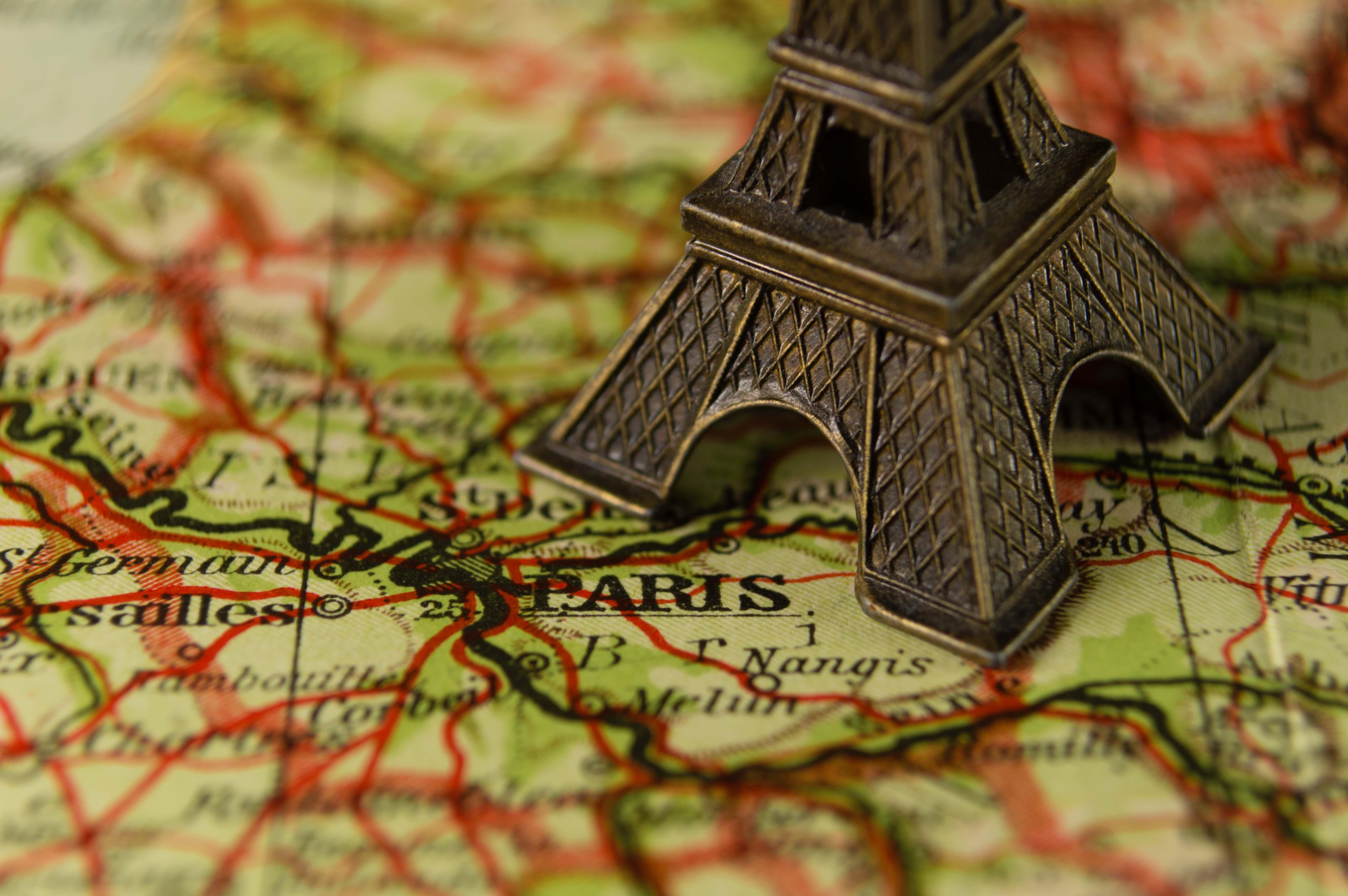 Ilmaisia Kuvia Lahikuva Eiffel Torni Ranska Maamerkki Kartta