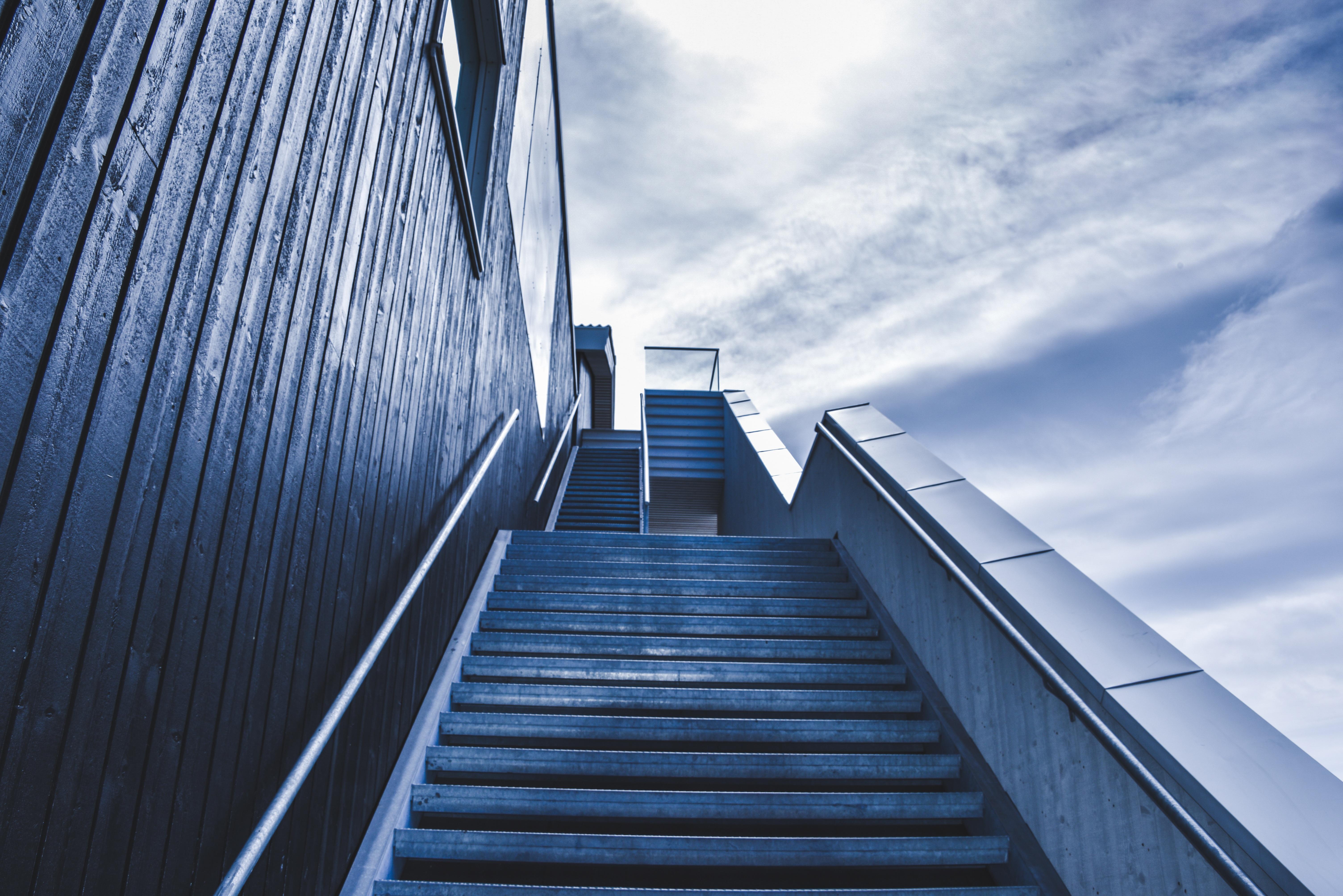 ничто силуэт на лестнице в небо фото моменты, фото