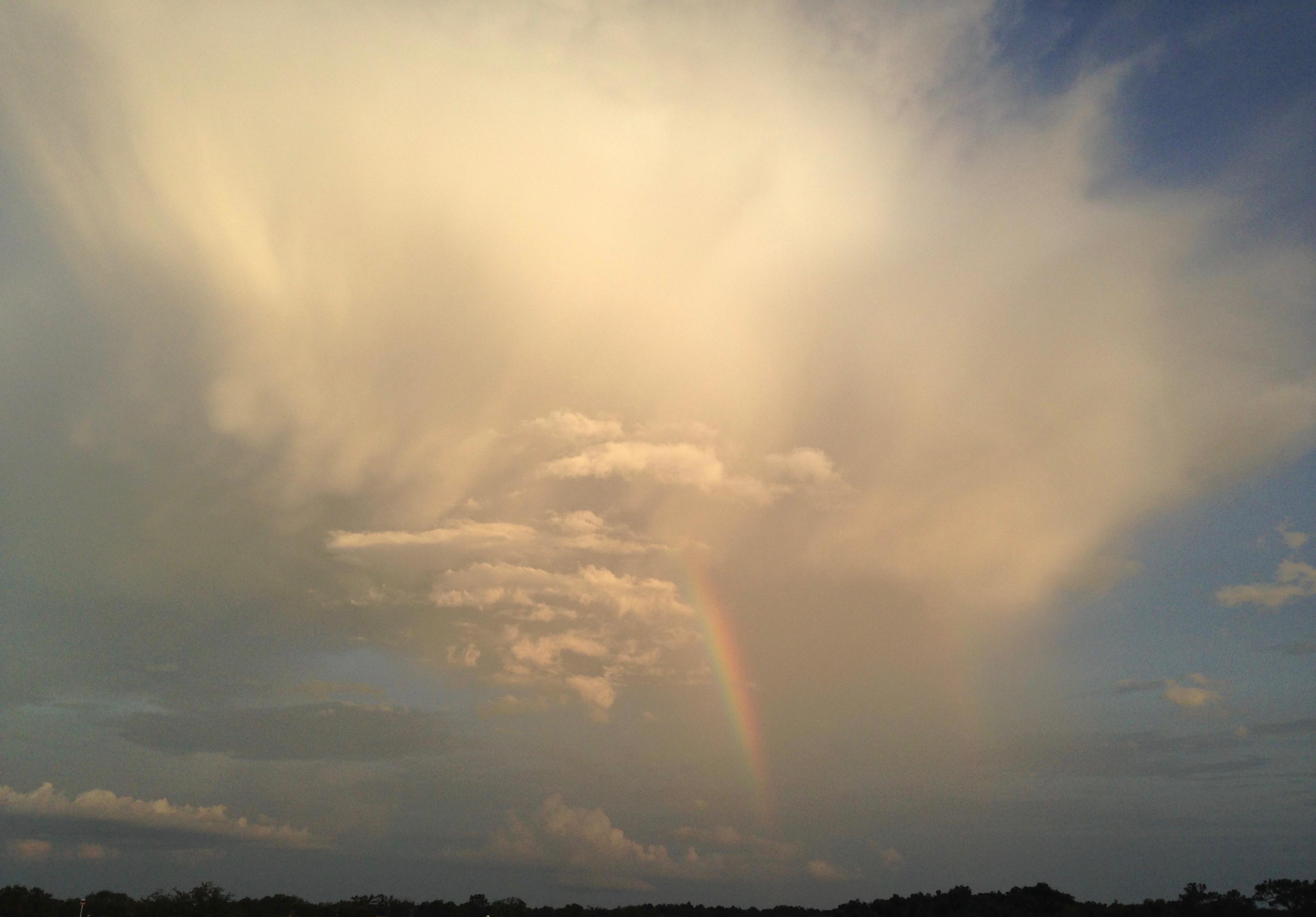 Kostenlose foto : Wolken, Regenbogen, Sonnenuntergang ...