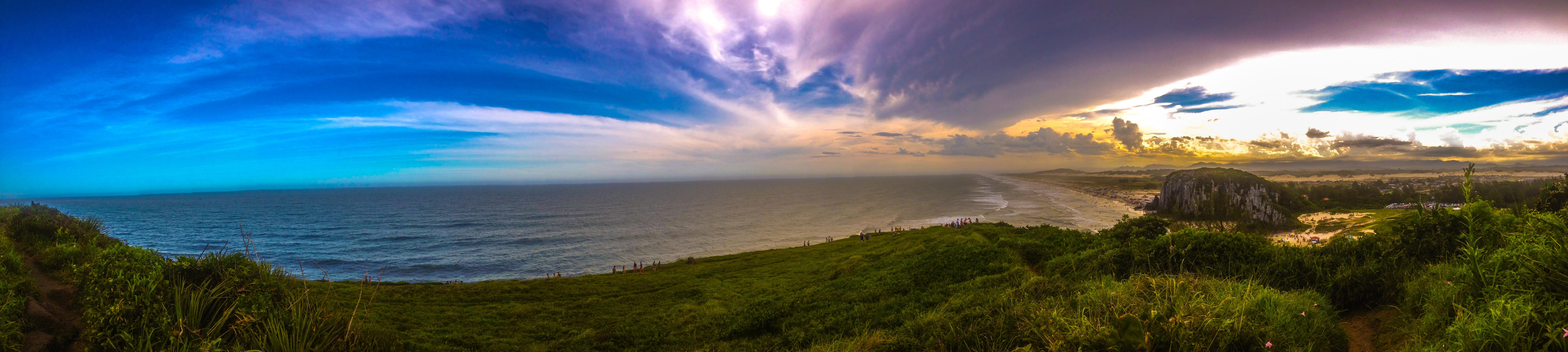 Gambar Pantai Horison Awan Suasana Panorama Medan Fajar