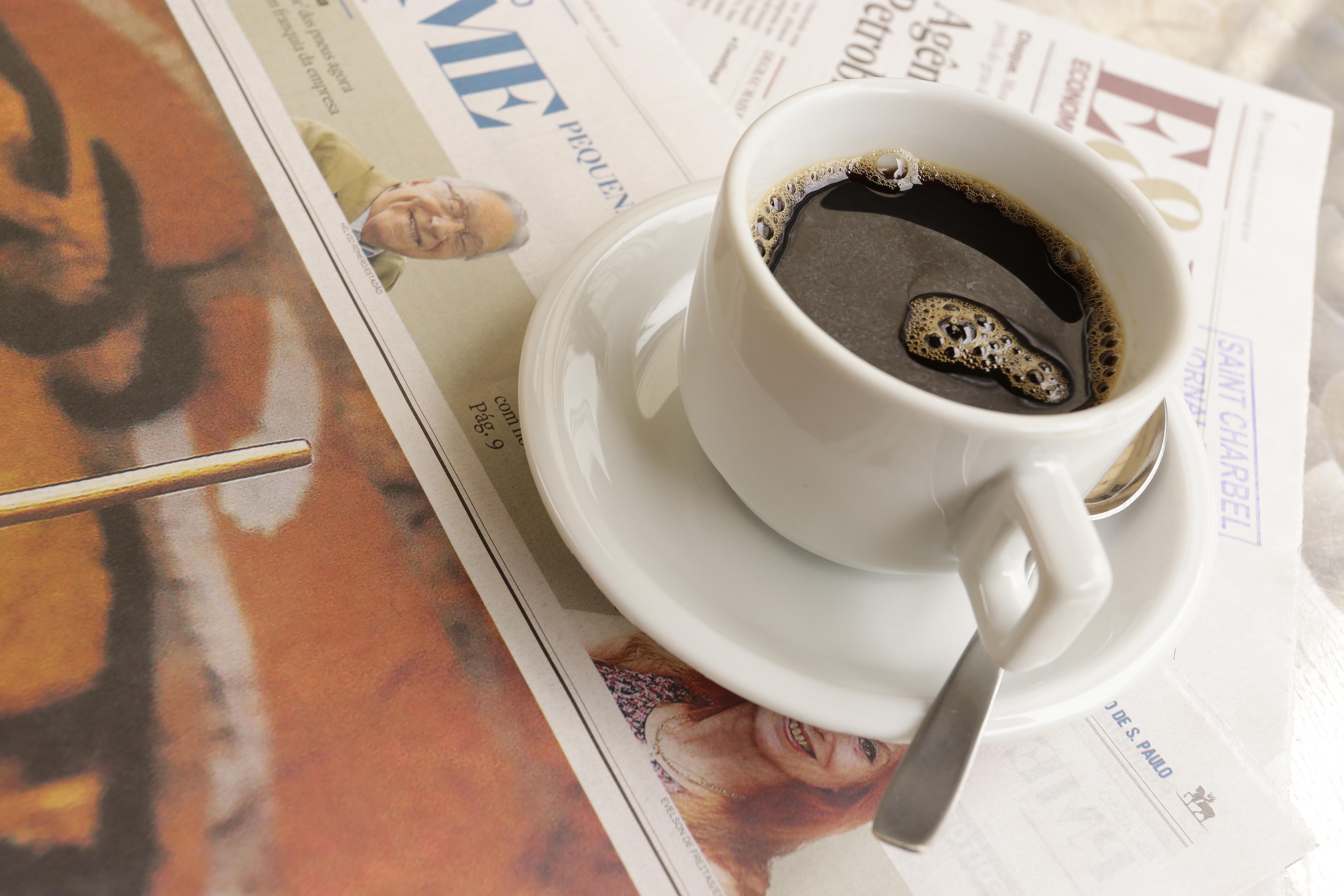нужно картинки с кофе и газетой этом