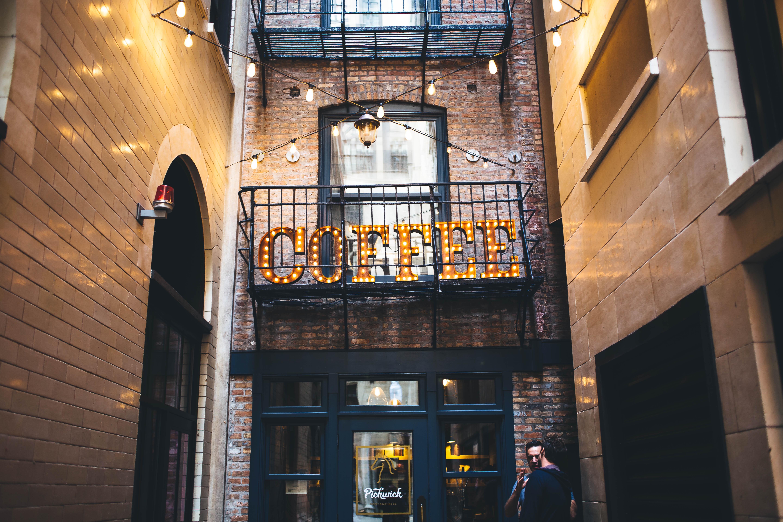Free coffee shop architecture window building balcony
