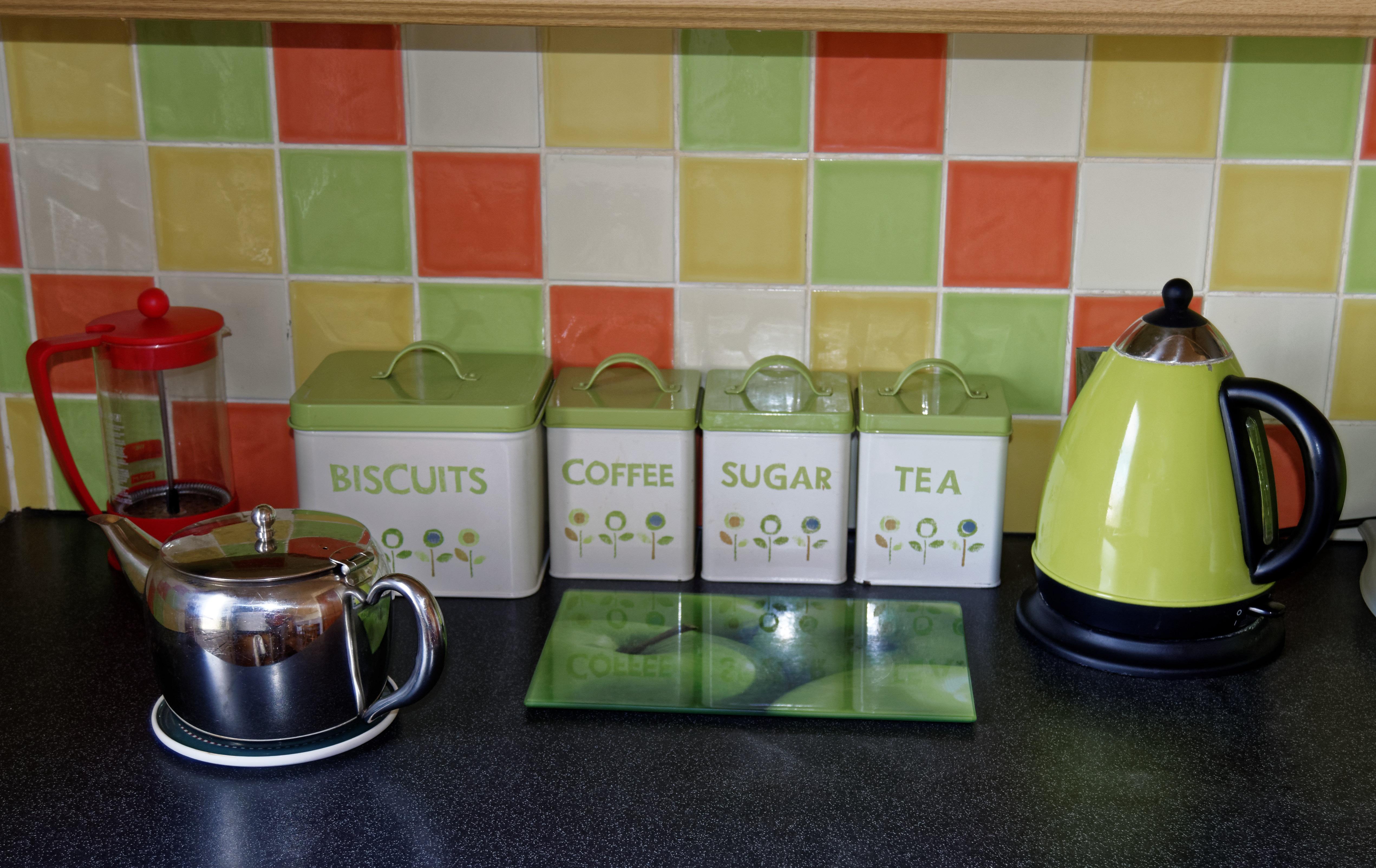 Gambar Kopi Teh Kaca Hijau Peralatan Warna Ketel Dapur