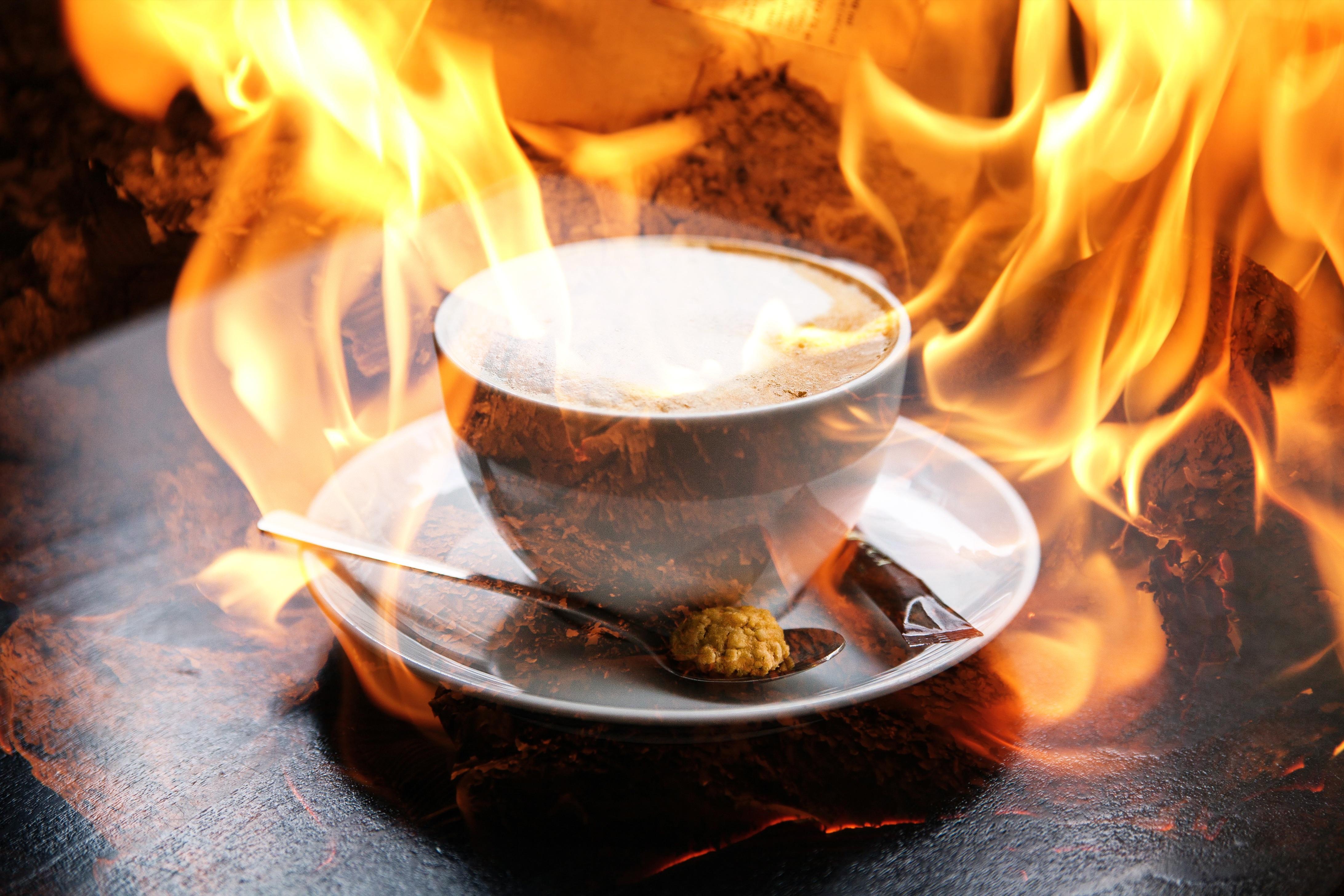 Molto Immagini Belle : tè, mattina, cioccolata calda, cappuccino, fiamma  TX08