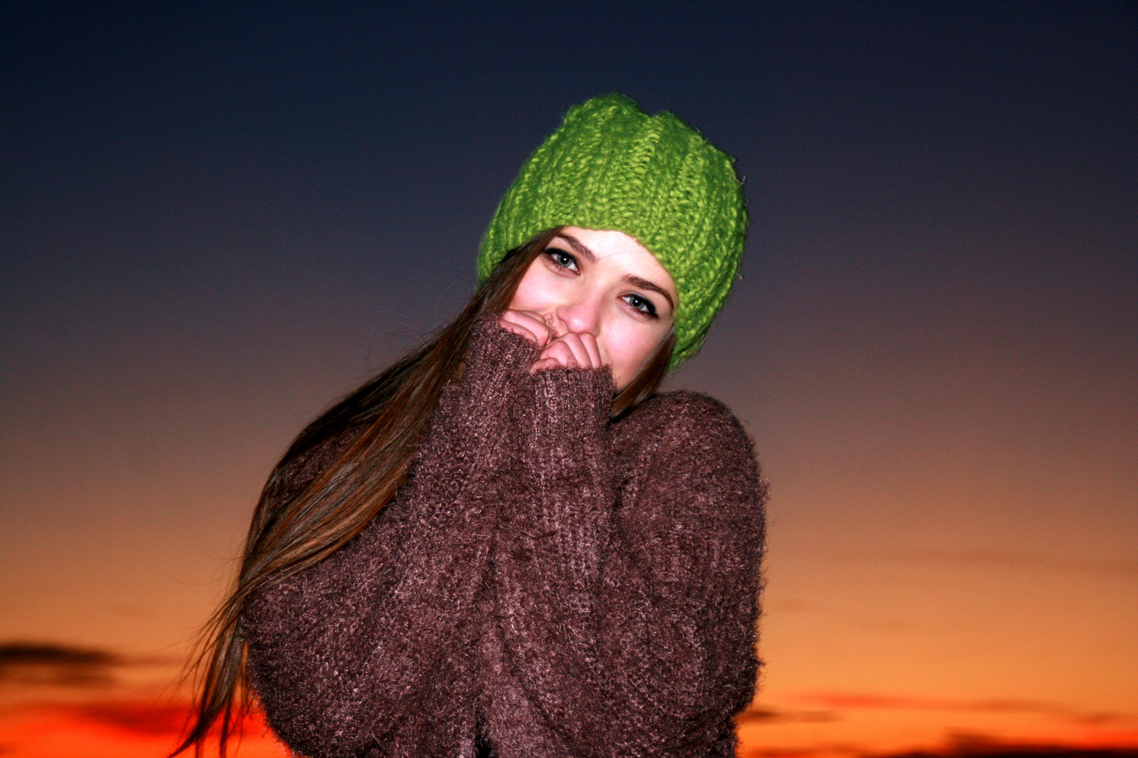 Kostenlose foto : kalt, Himmel, Mädchen, Haar, Sonnenuntergang ...