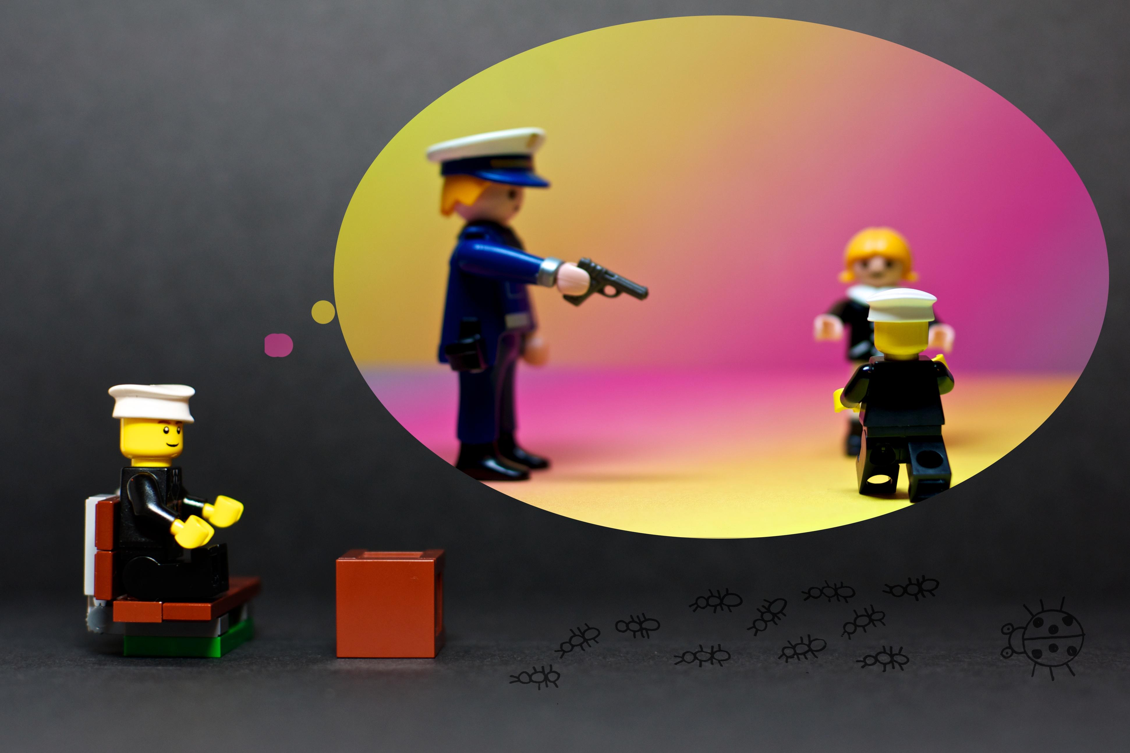 Kostenlose Foto Farbe Schwarz Gelb Spielzeug Playmobil Kunst