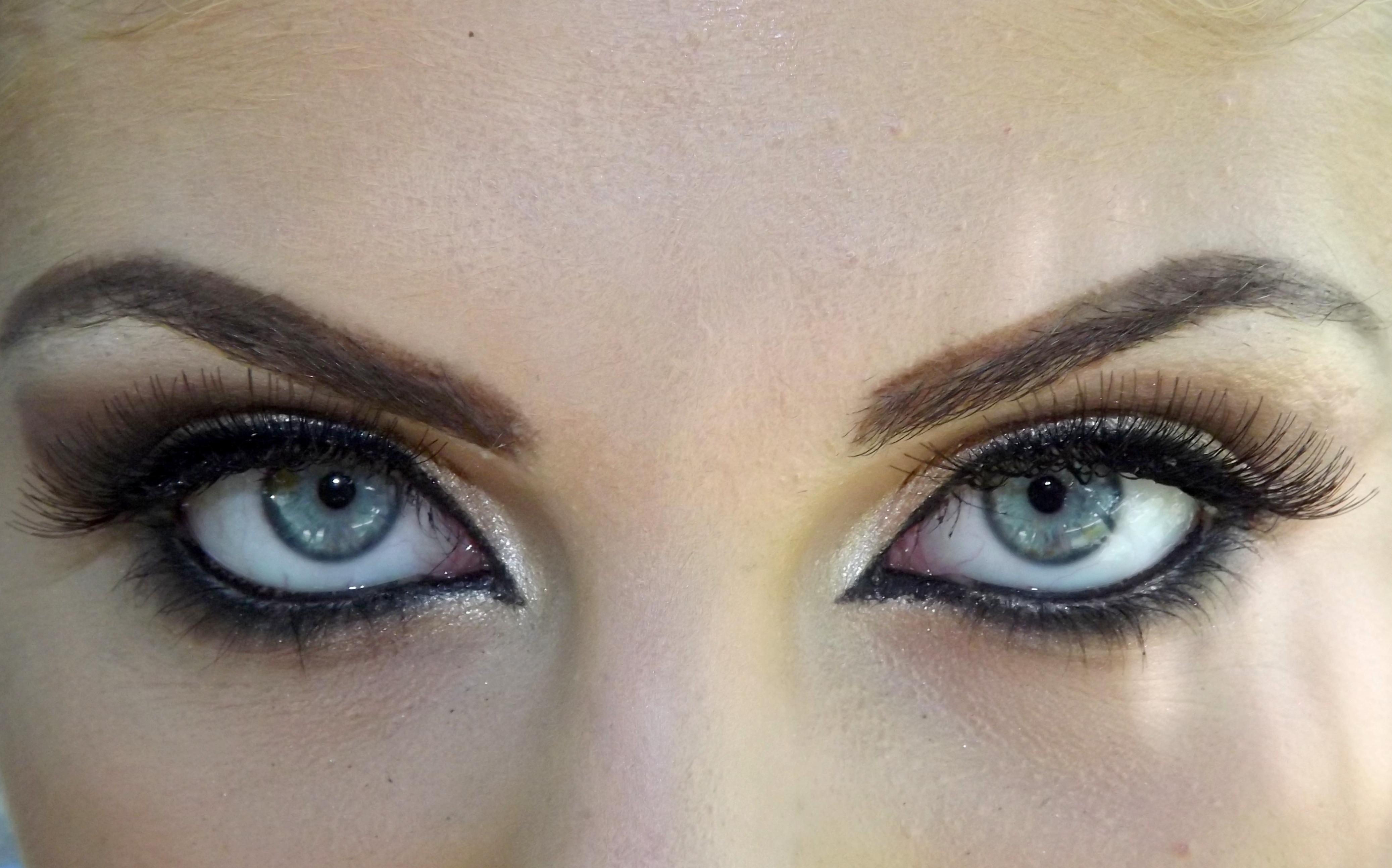free images color blue makeup eyebrow close up. Black Bedroom Furniture Sets. Home Design Ideas