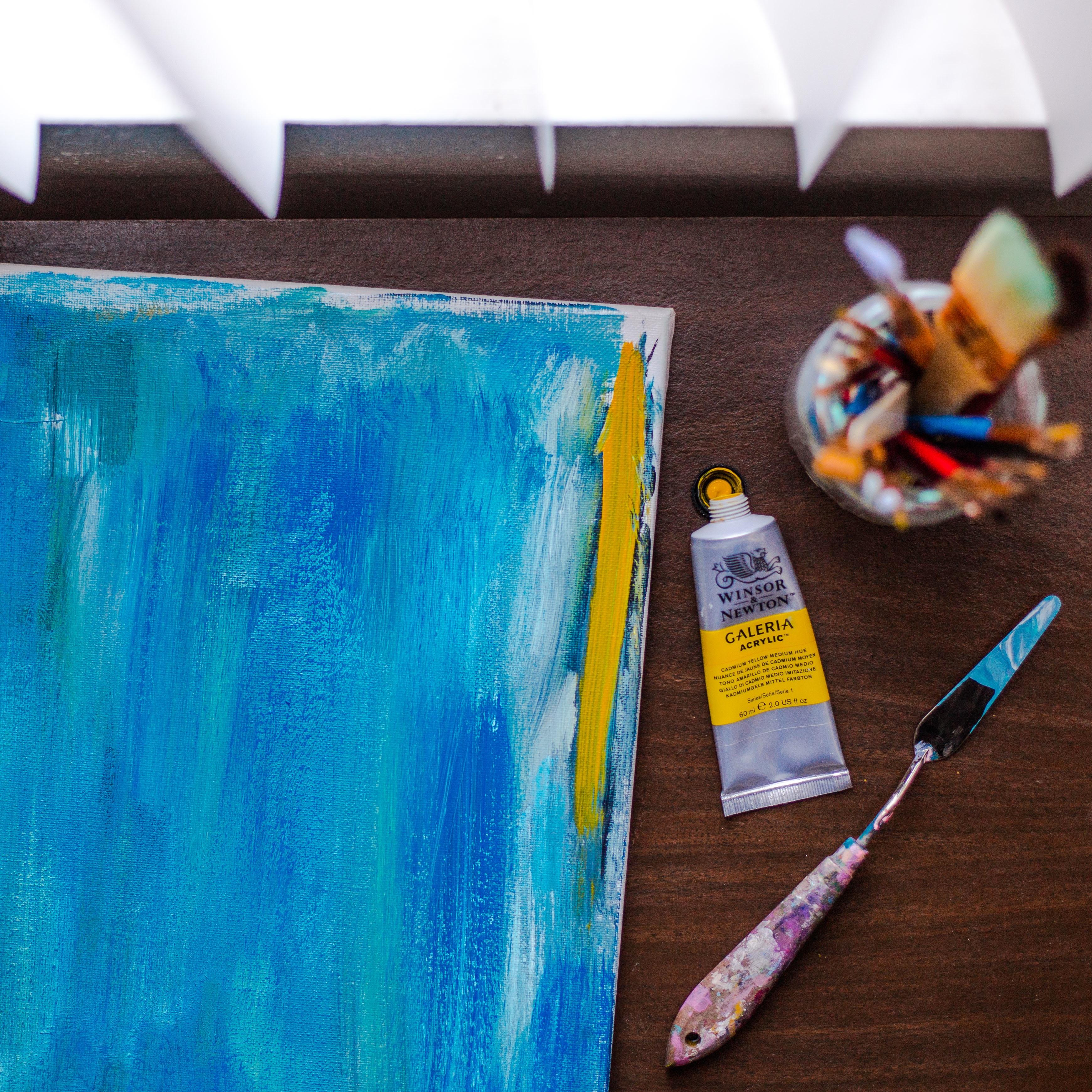 Images Gratuites Couleur Bleu Mat Riel La Peinture Art