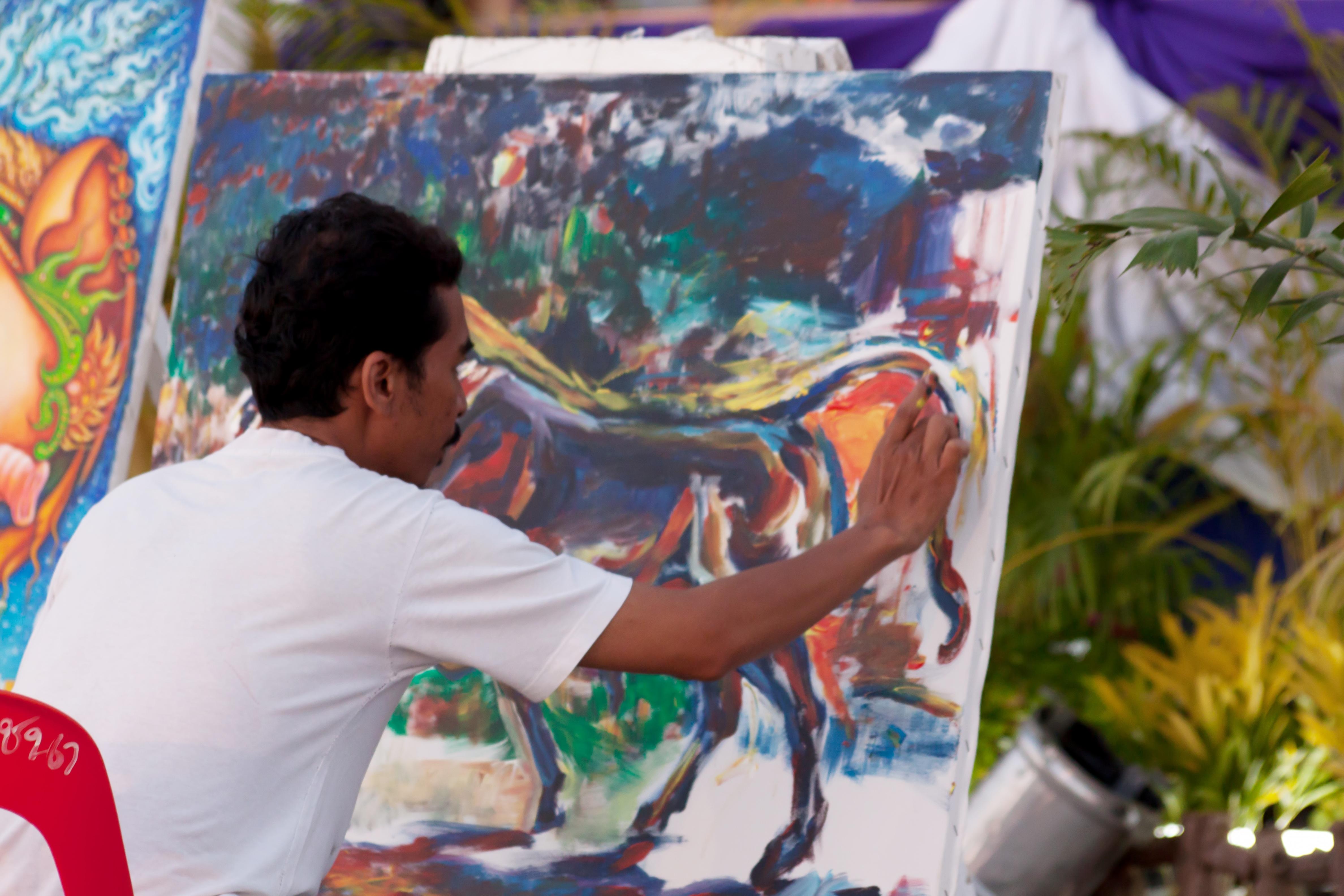 Kostenlose foto : Farbe, Rahmen, Künstler, Thailand, Malerei, Kunst ...