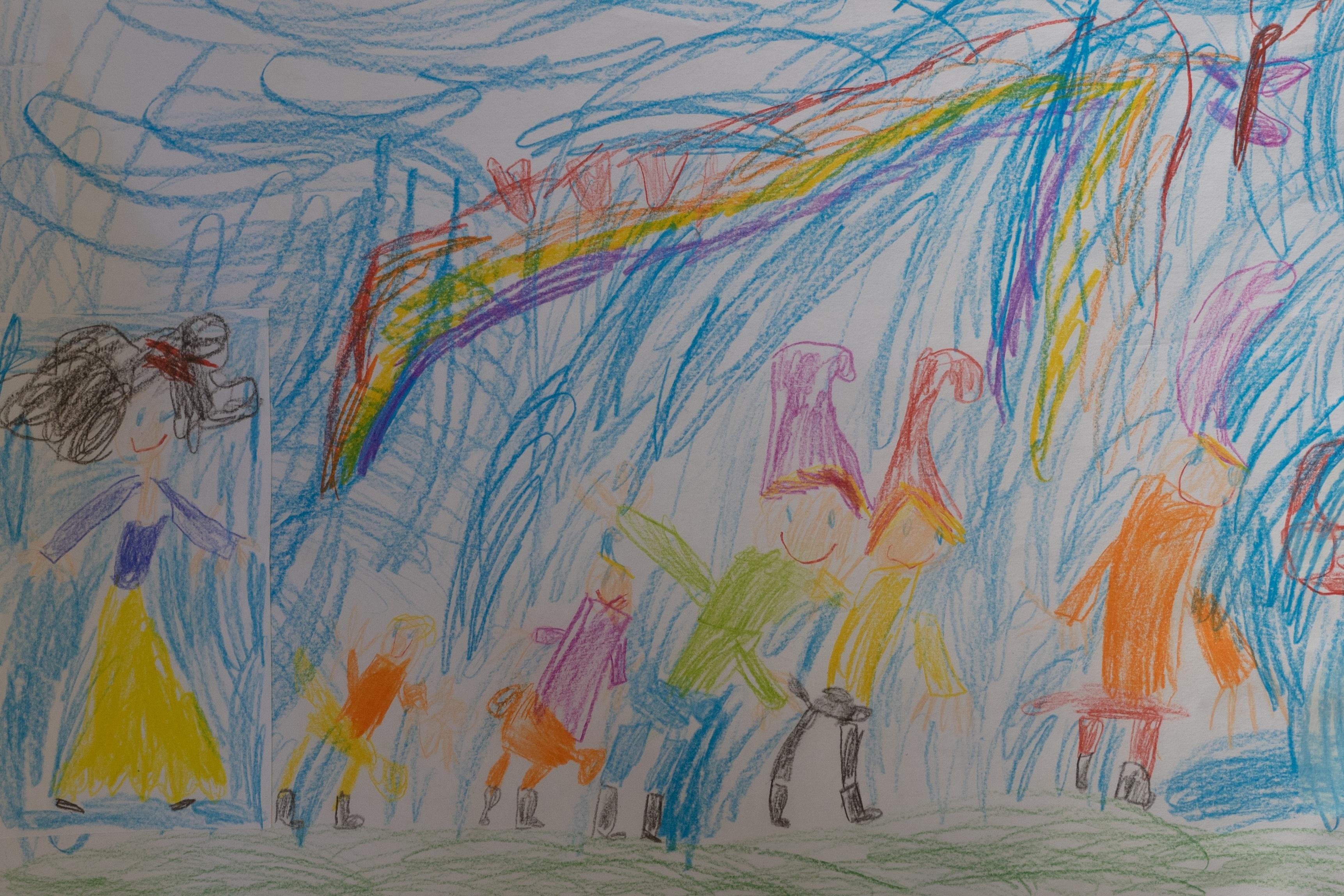 Gambar Warna Sketsa Ilustrasi Lukisan Dinding Taman