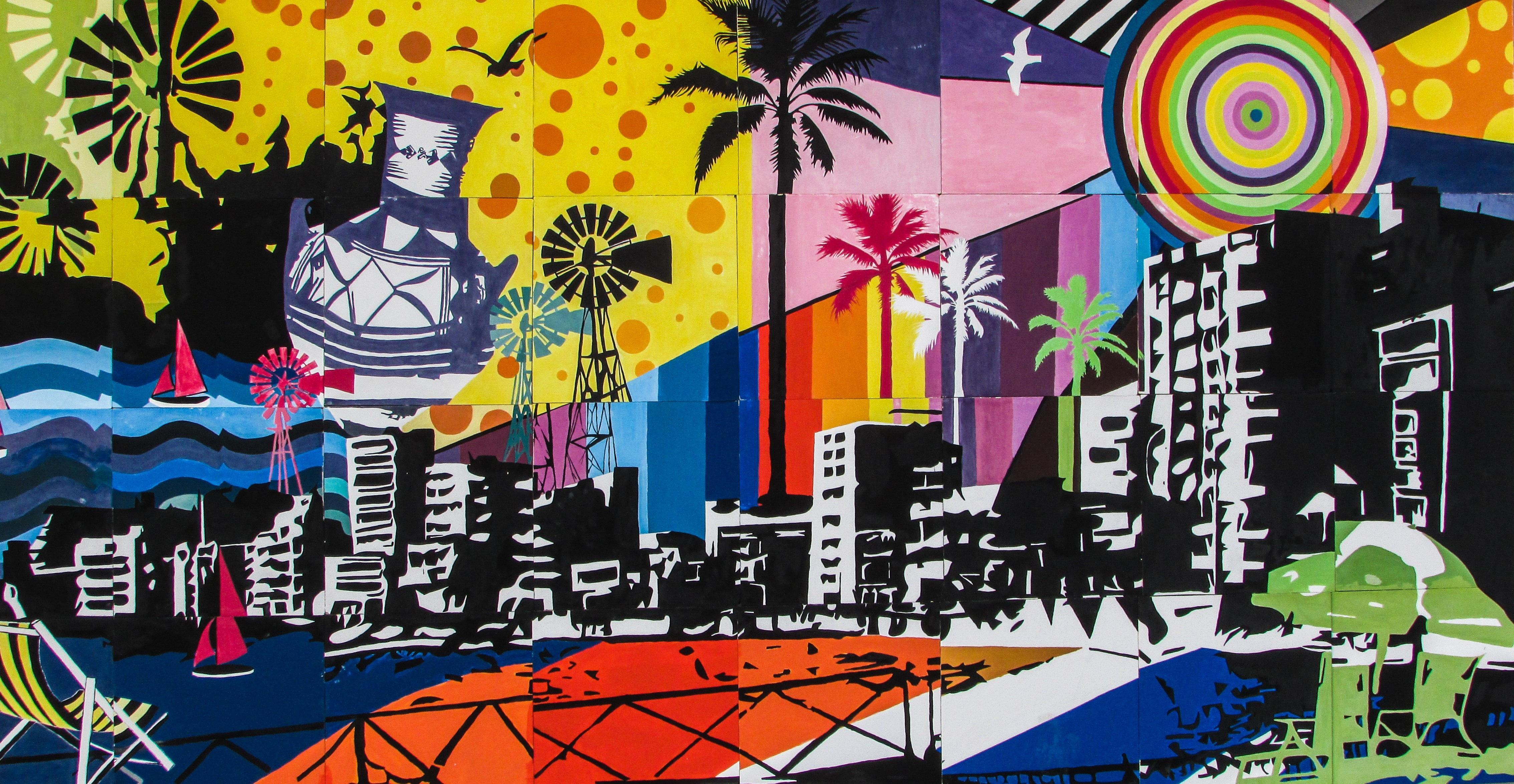 Colourful Tourism Graffiti Street Art Art Illustration Mural History Tradition Cyprus Paralimni Modern Art