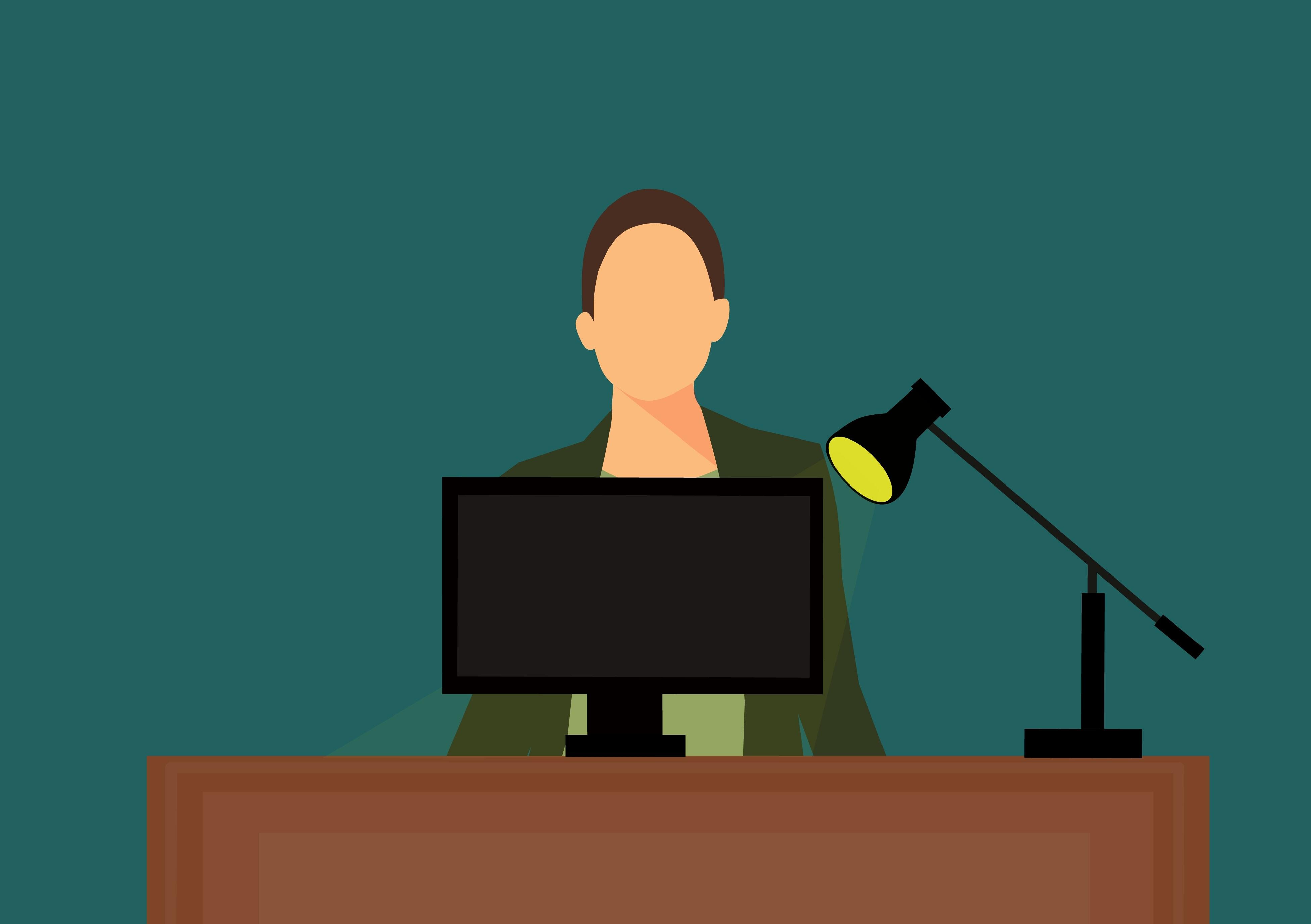 Gambar Layar Komputer Bekerja Pada Komputer Office Computer