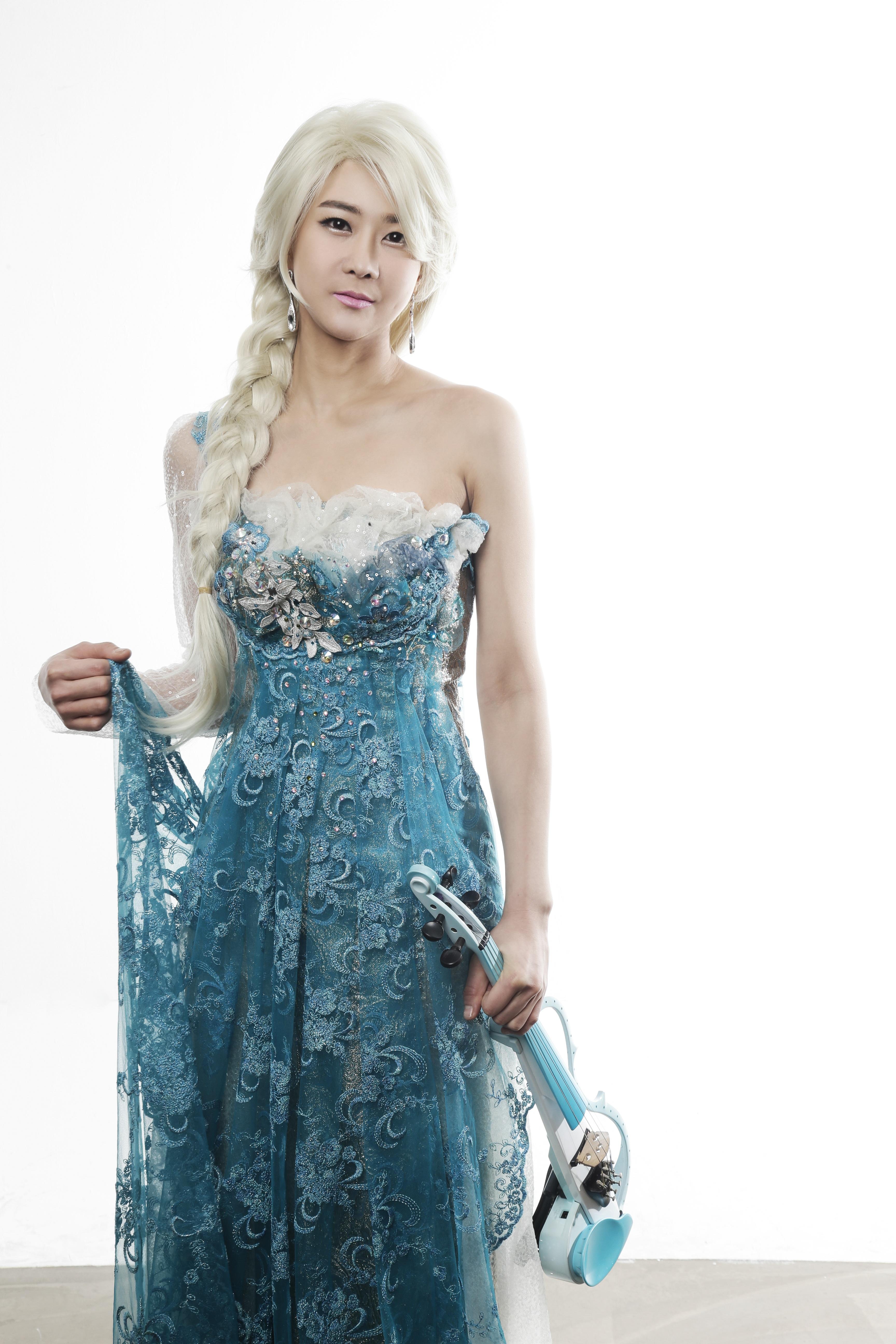 be17a897604b koncert tøj bryllupskjole violin tekstil cosplay kjole prom kjole brudepige  violinist Photo shoot vinter rige al
