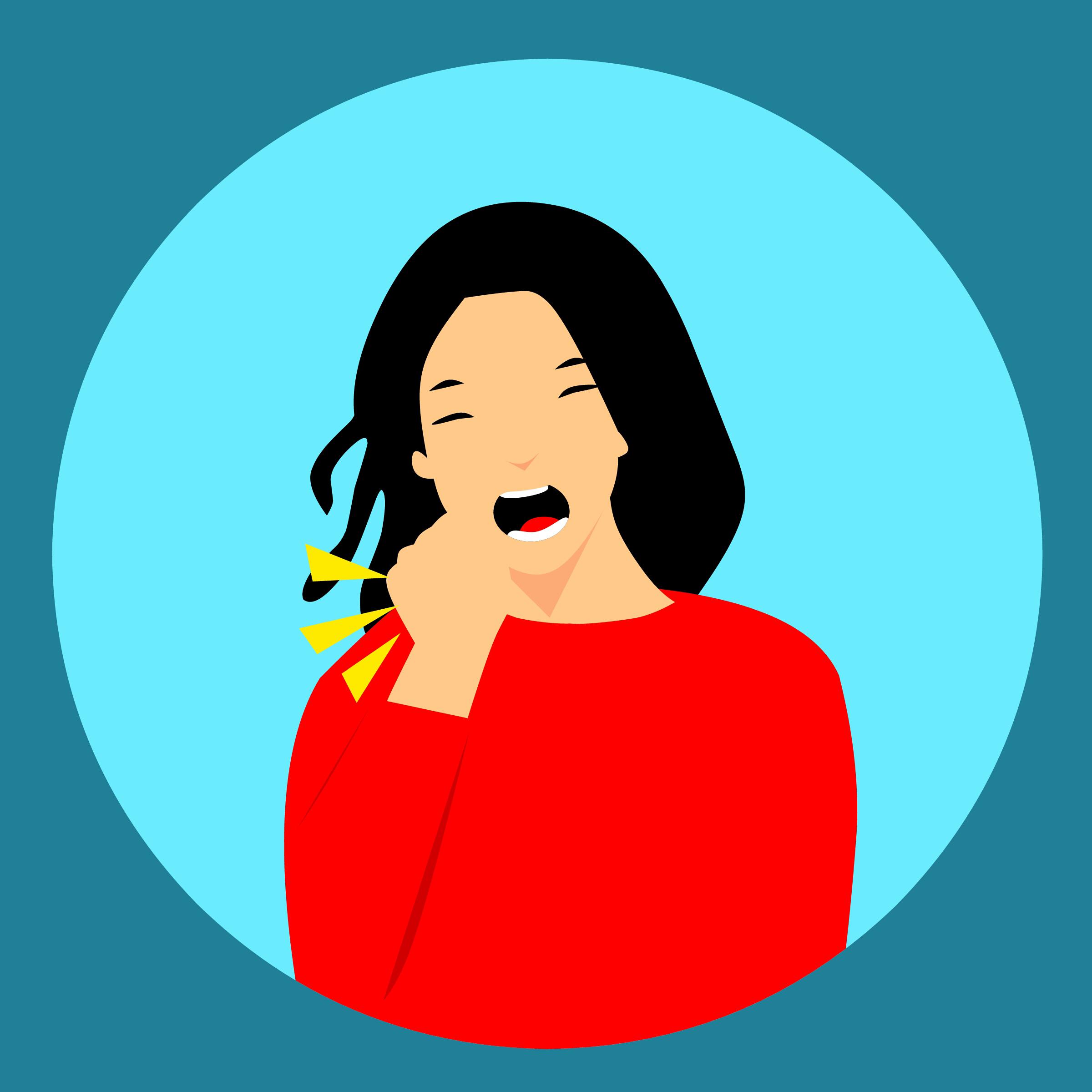 Gambar Batuk Dingin Flu Wanita Penyakit Menghadapi Demam