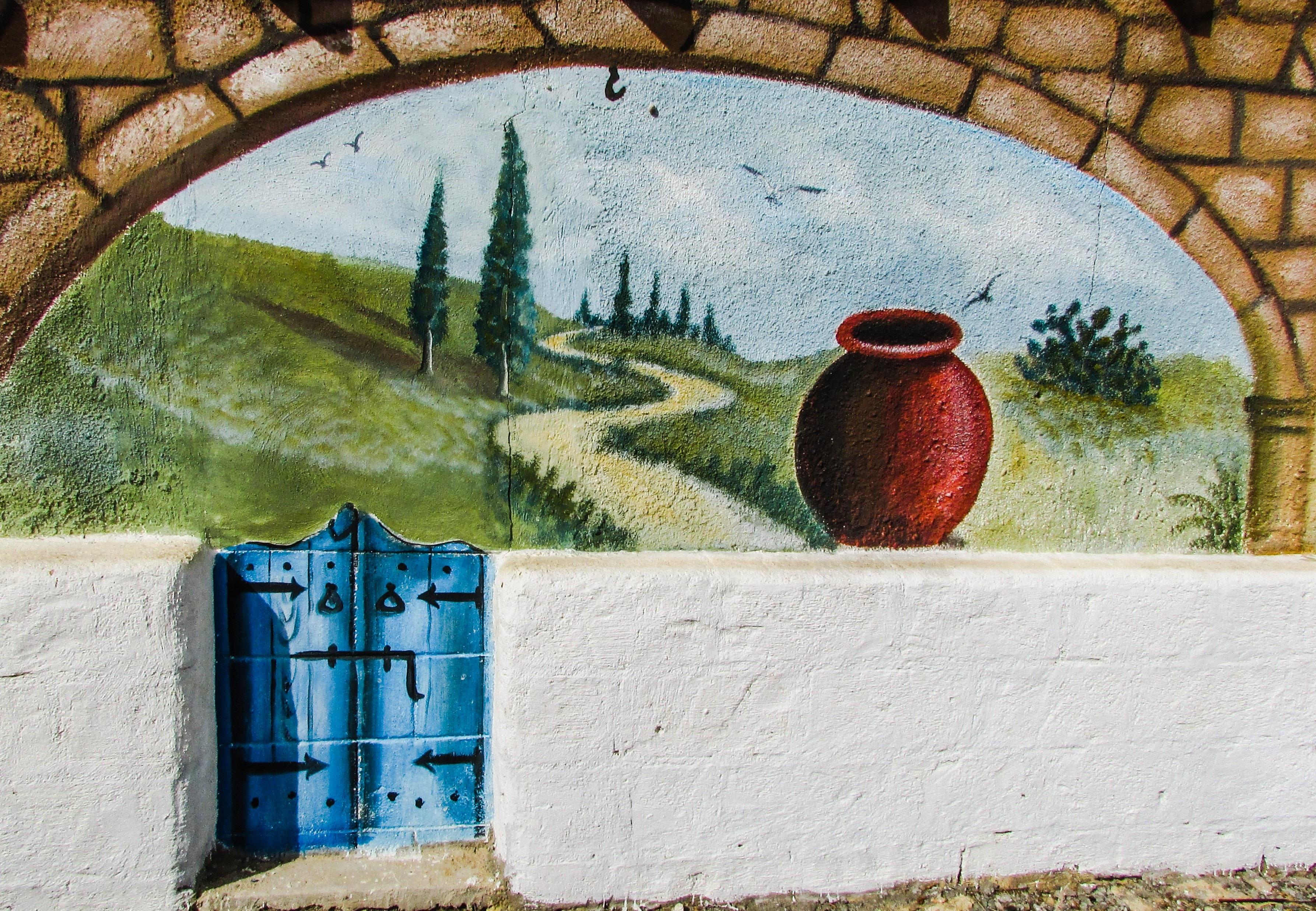 images gratuites campagne mur couleur graffiti la peinture ethnique art mural motif. Black Bedroom Furniture Sets. Home Design Ideas