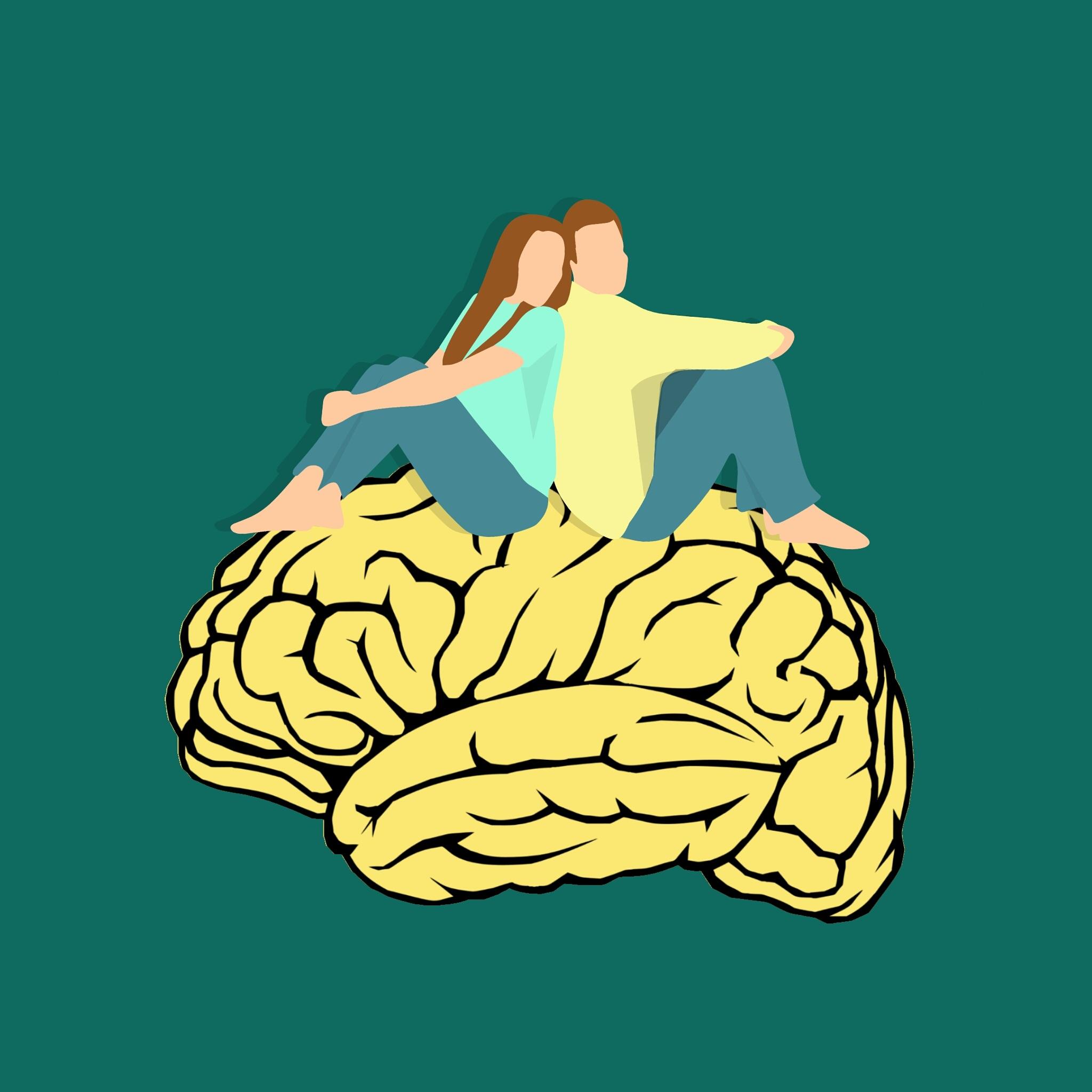 Gambar Sepasang Suami Istri Bersama Otak Pikiran