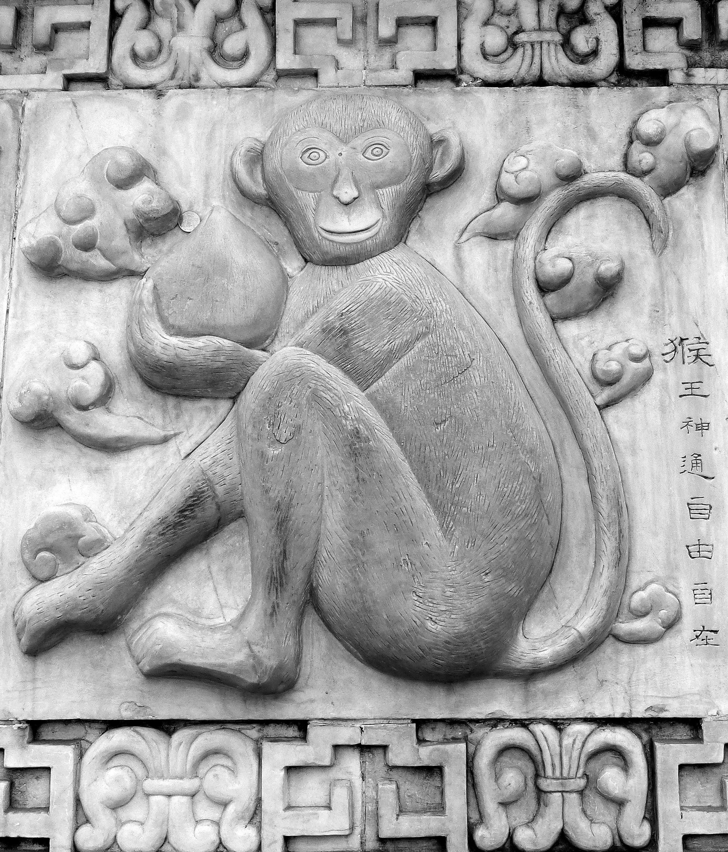 Gambar Kreatif Hitam Dan Putih Struktur Monumen Patung