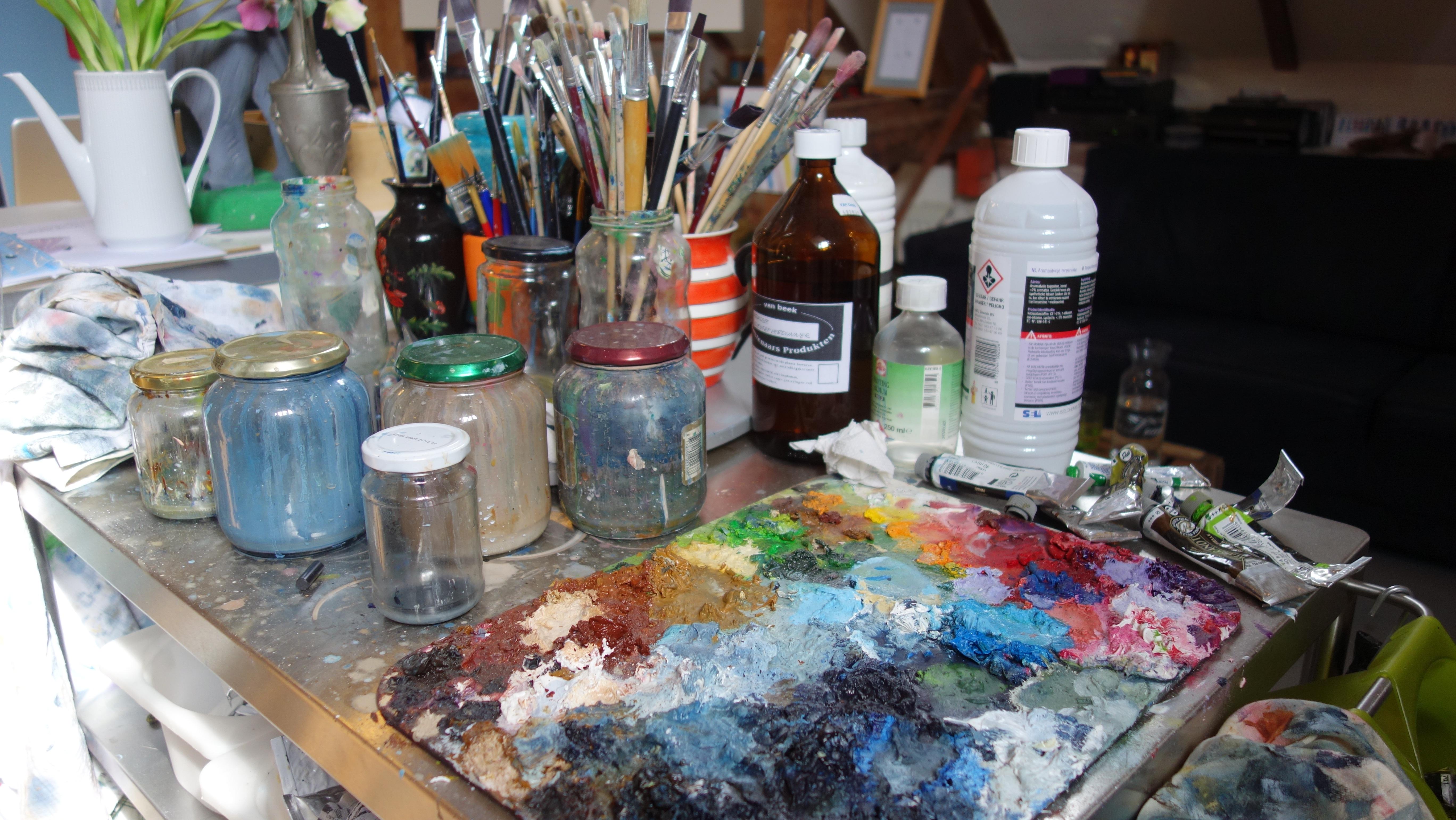 Fotoğraf Yaratıcı Fırça Yemek Renk Sanatçı Boya Boyama