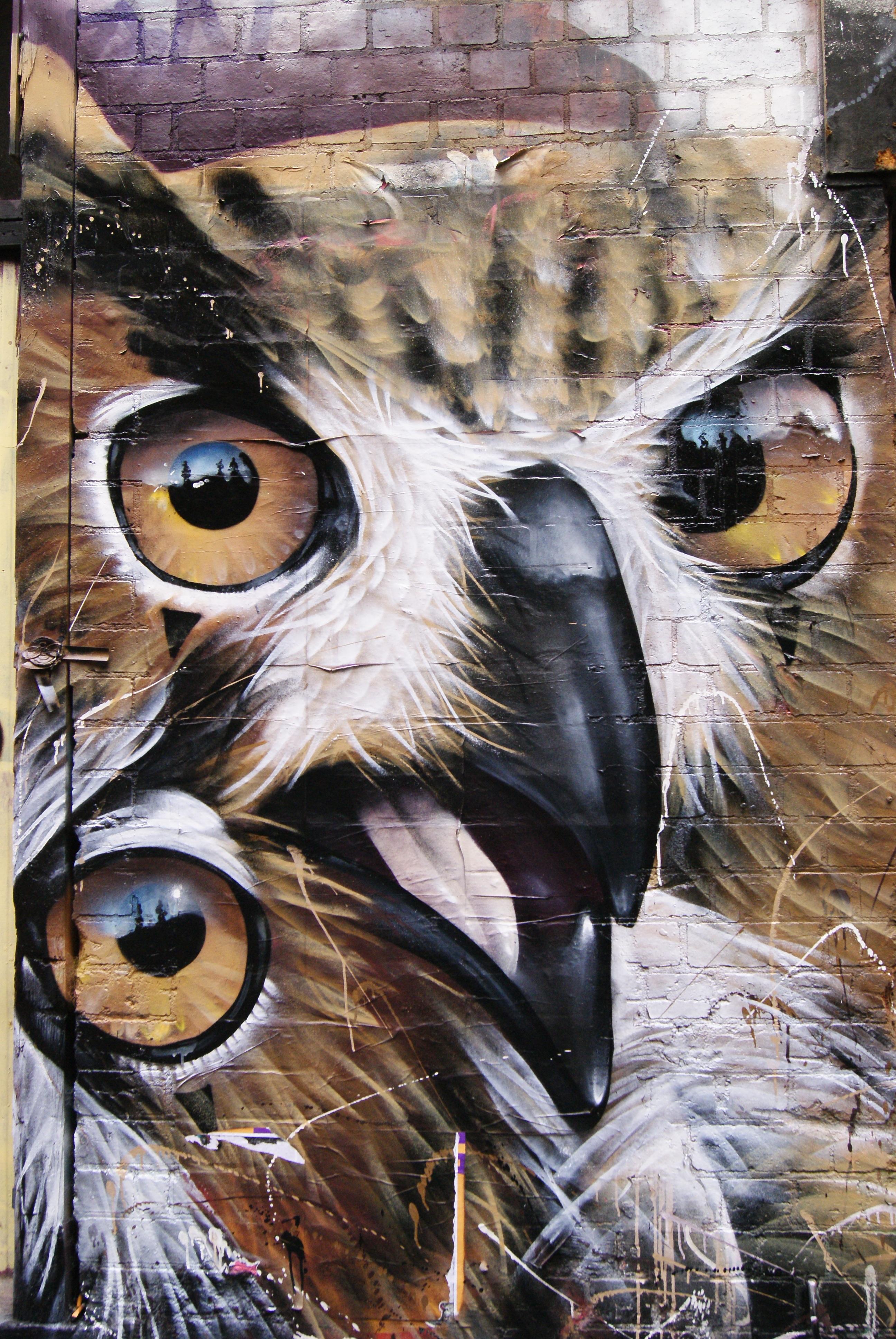 Gambar Kreatif Bangunan Kota Artistik Burung Hantu Karya
