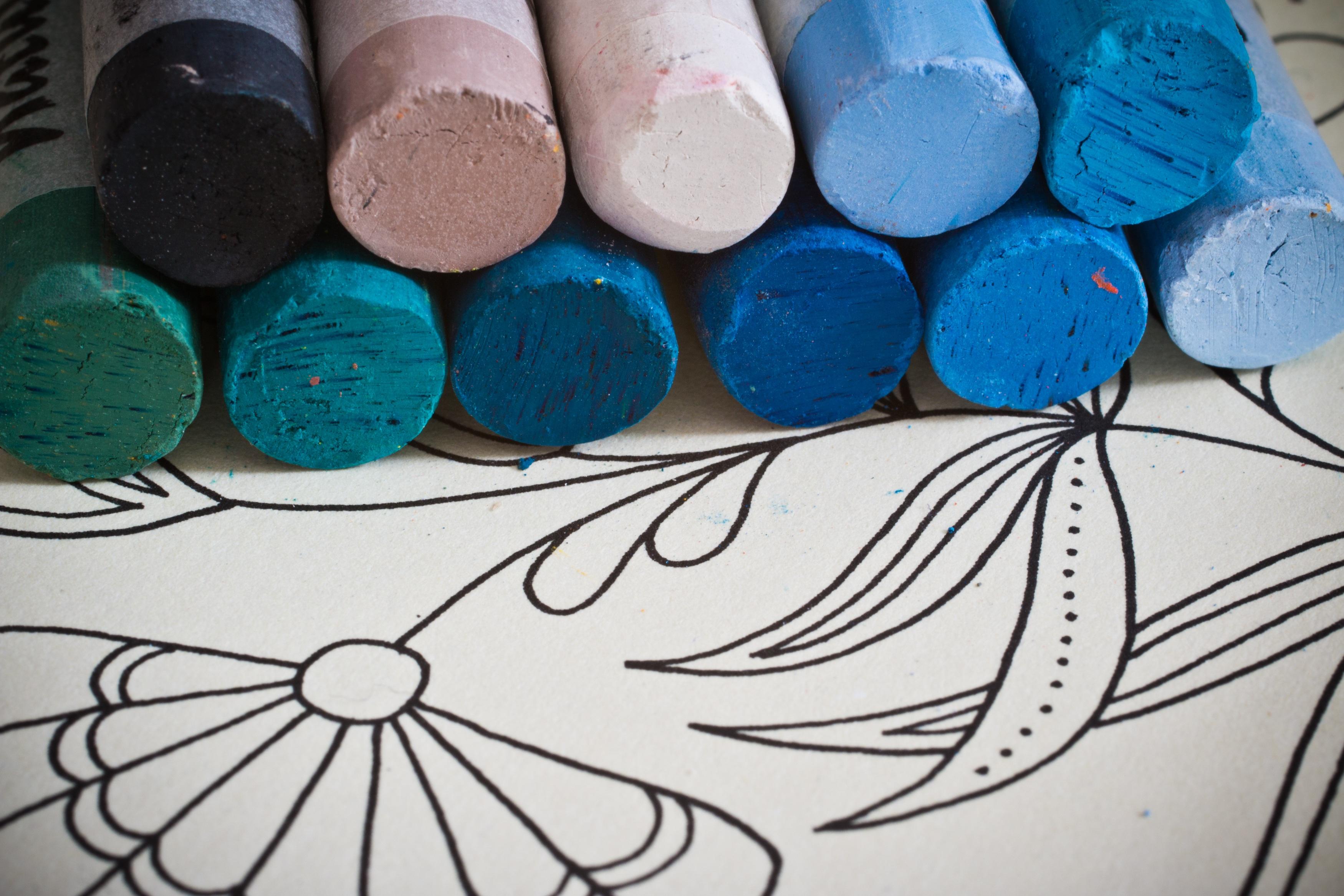Fotoğraf Yaratıcı Desen Renk Boya Mavi Malzeme Daire