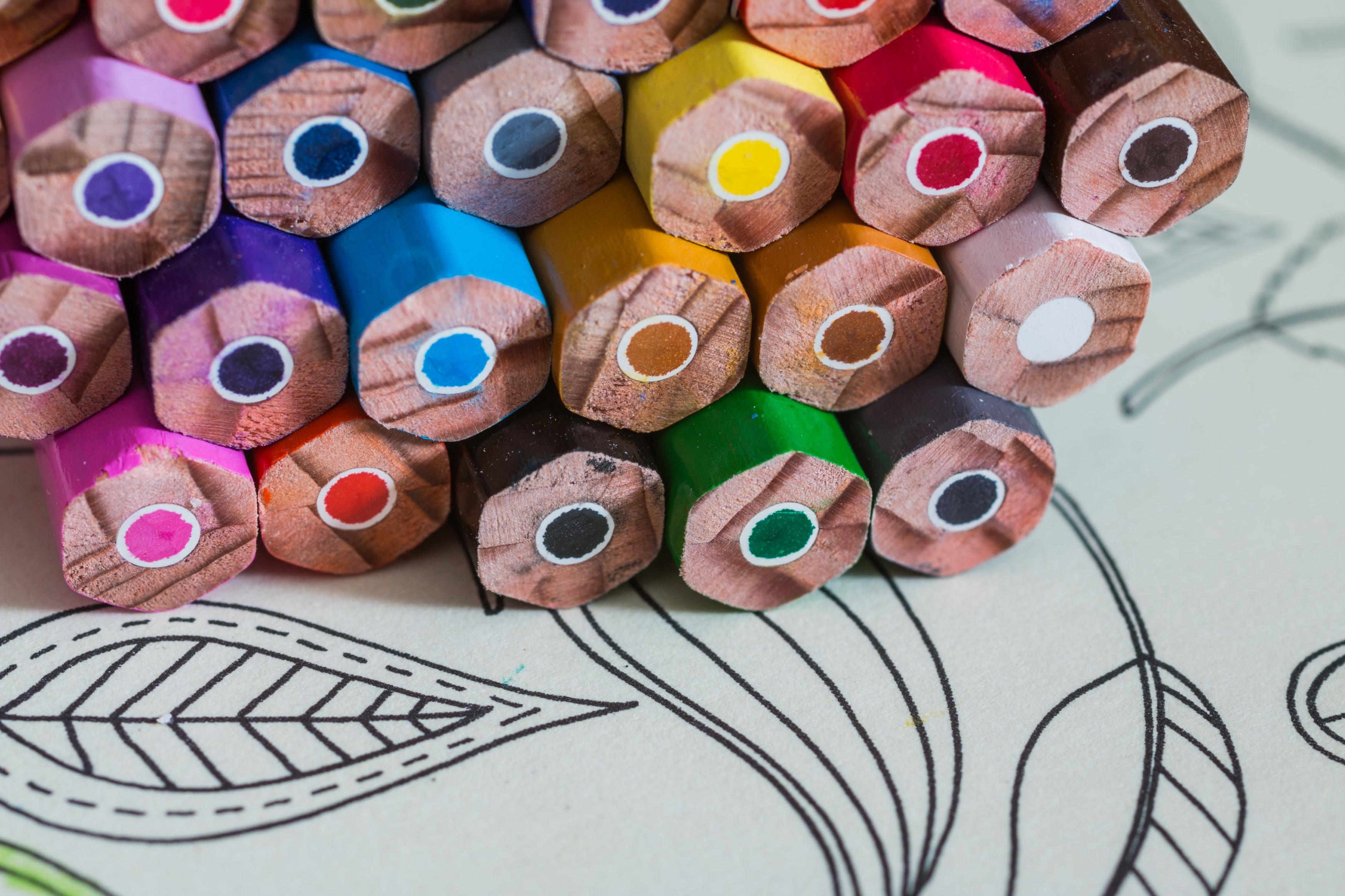 Fotoğraf Yaratıcı Desen Renk Boya Malzeme Daire Tekstil