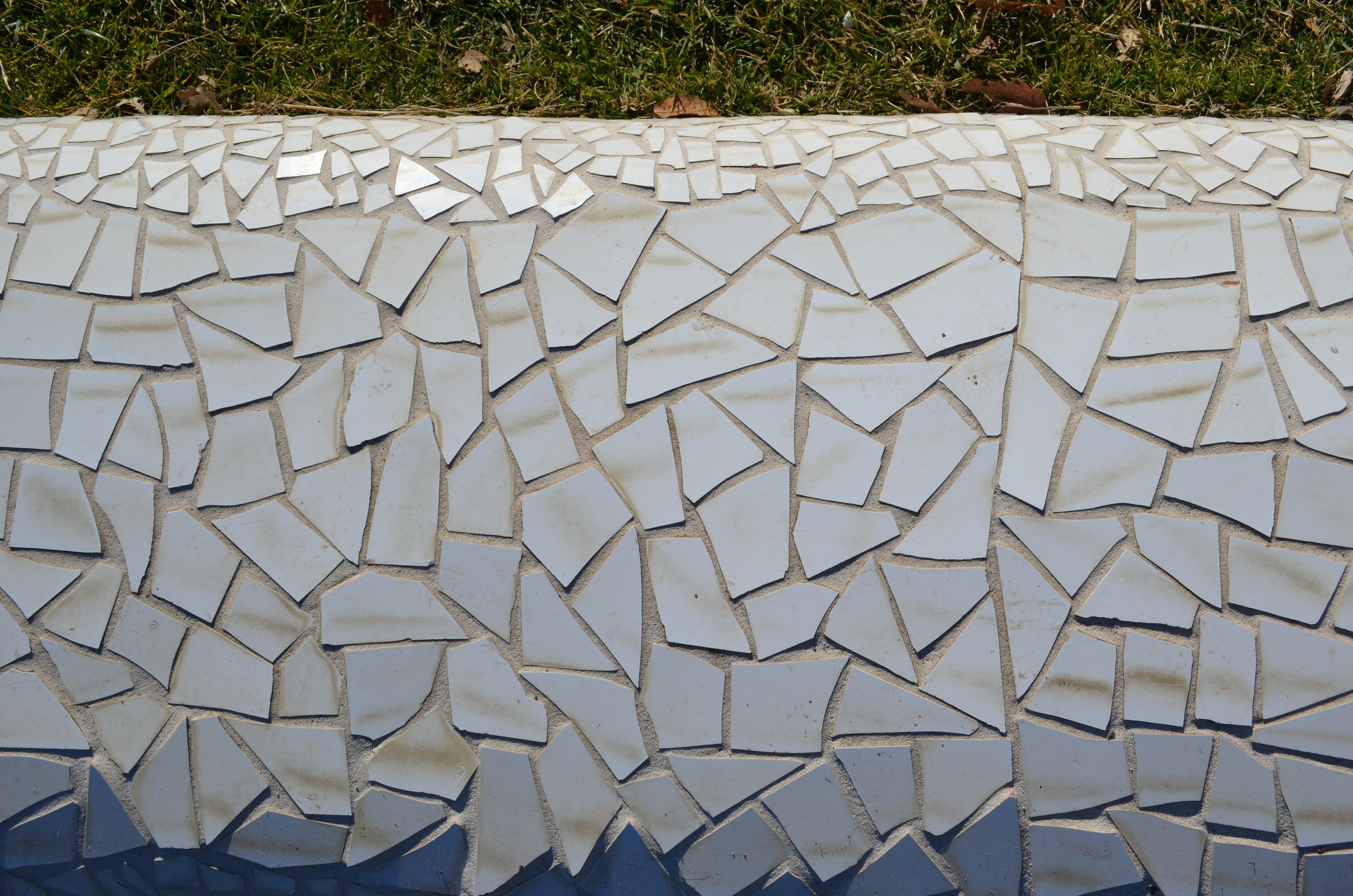 Kreativ Scharf Licht Weiß Textur Glas Mauer Dekoration Muster Gebrochen  Fliese Kalifornien Material Gezackt Kunst Entwurf
