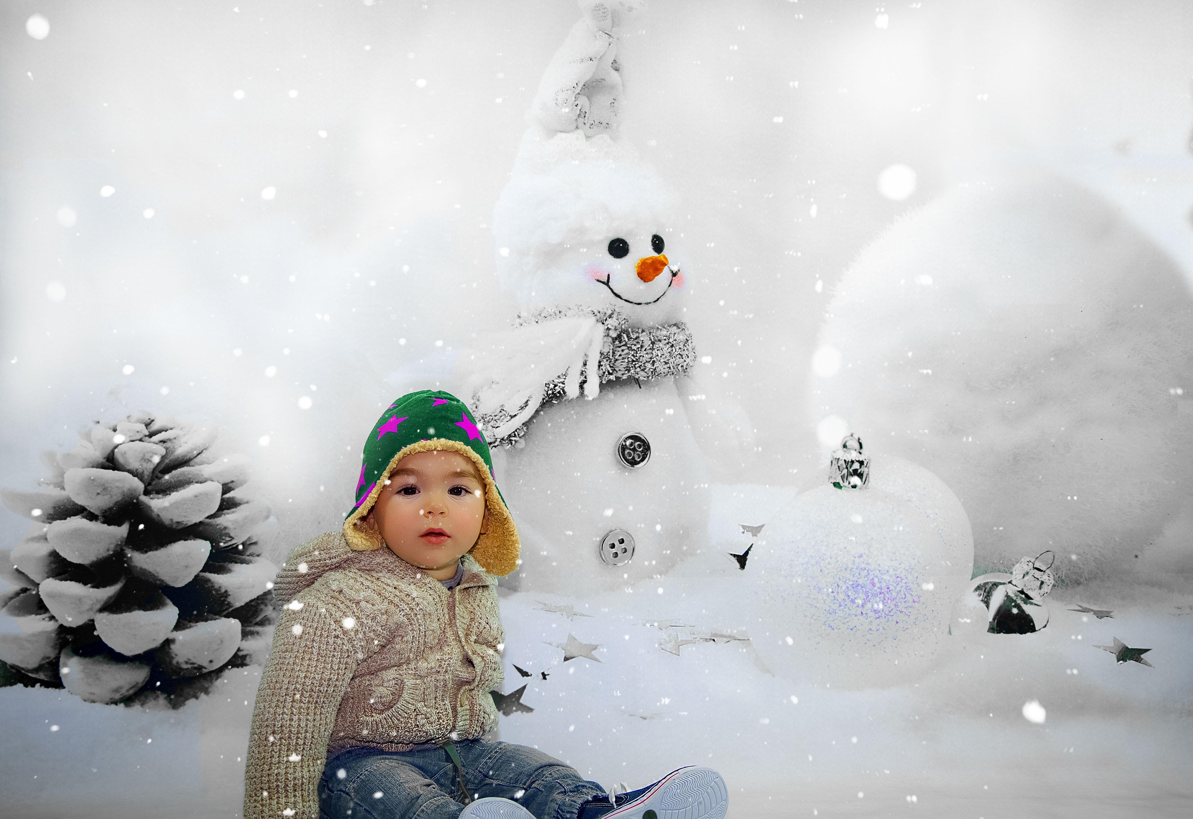 Fotos gratis : creativo, frío, invierno, clima, niño, Navidad ...