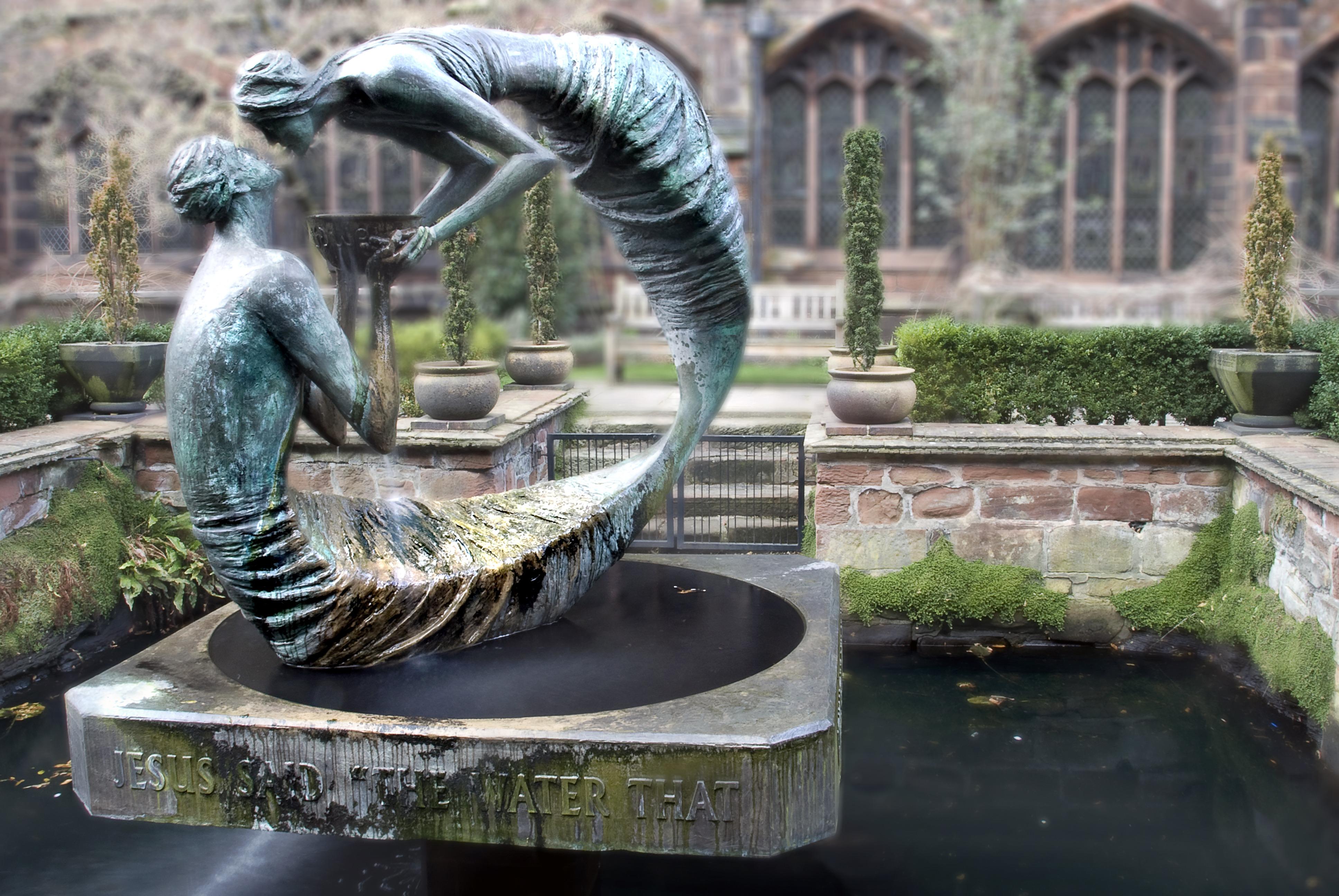 creative woman monument statue love zoo construction metal metal work garden artwork sculpture art figure creativity design fountain water feature metallic