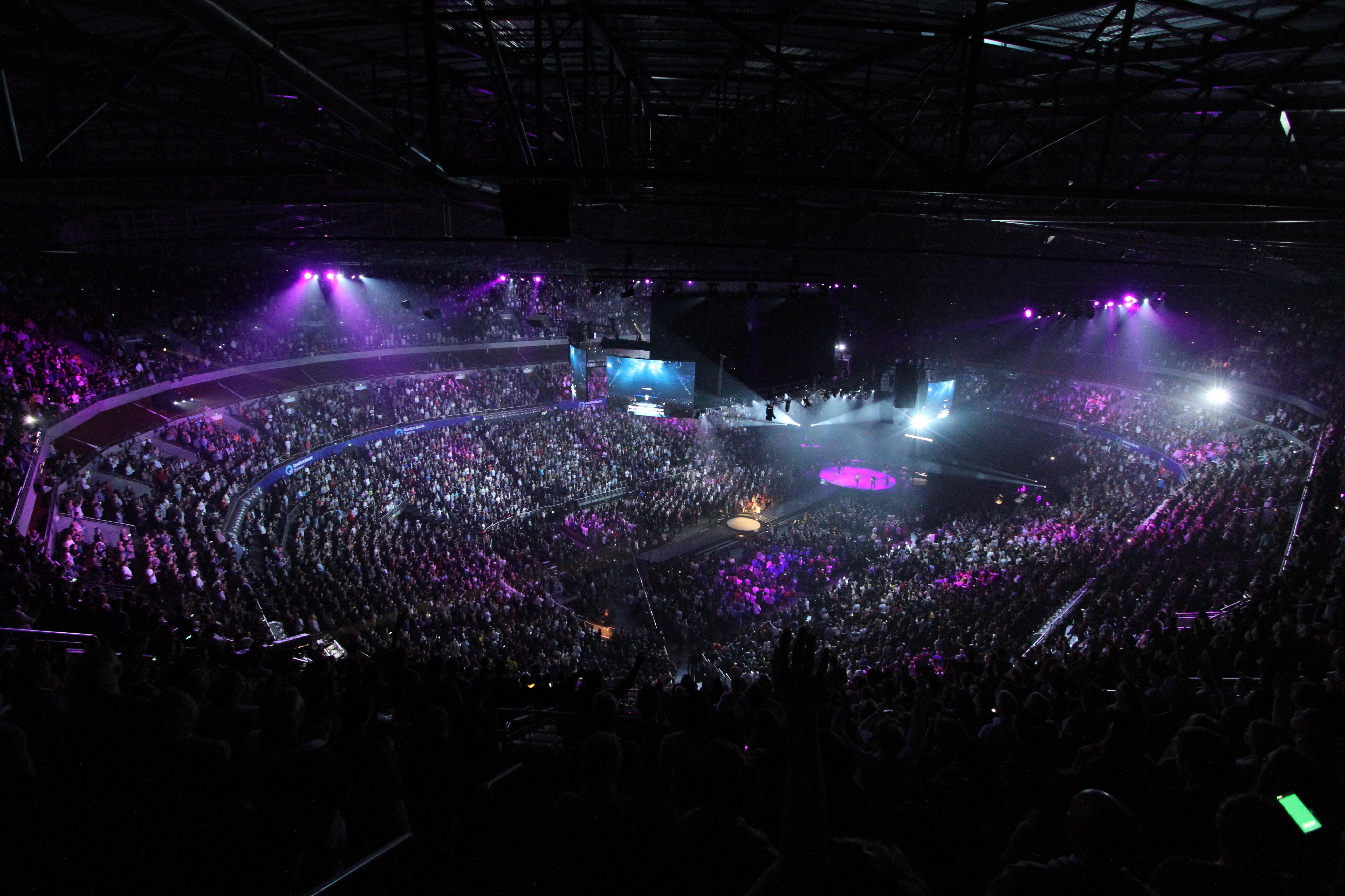 Crowd Dark Concert Audience Stadium Rave Lights Stage Performance Venue Entertainment Disco Nightclub Performing Arts Rock