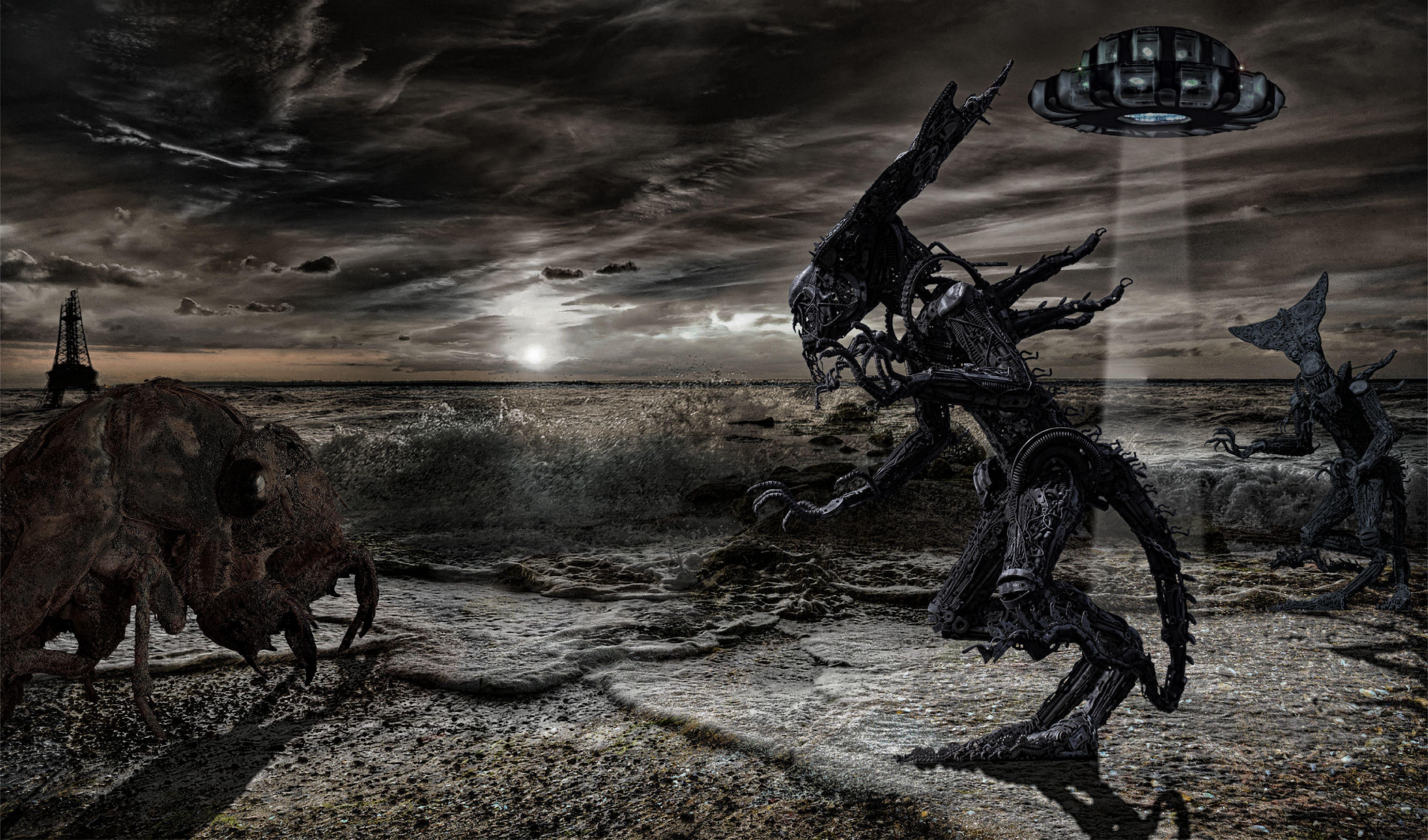 Обои статуя, разрушения, апокалипсис. Фантастика foto 12