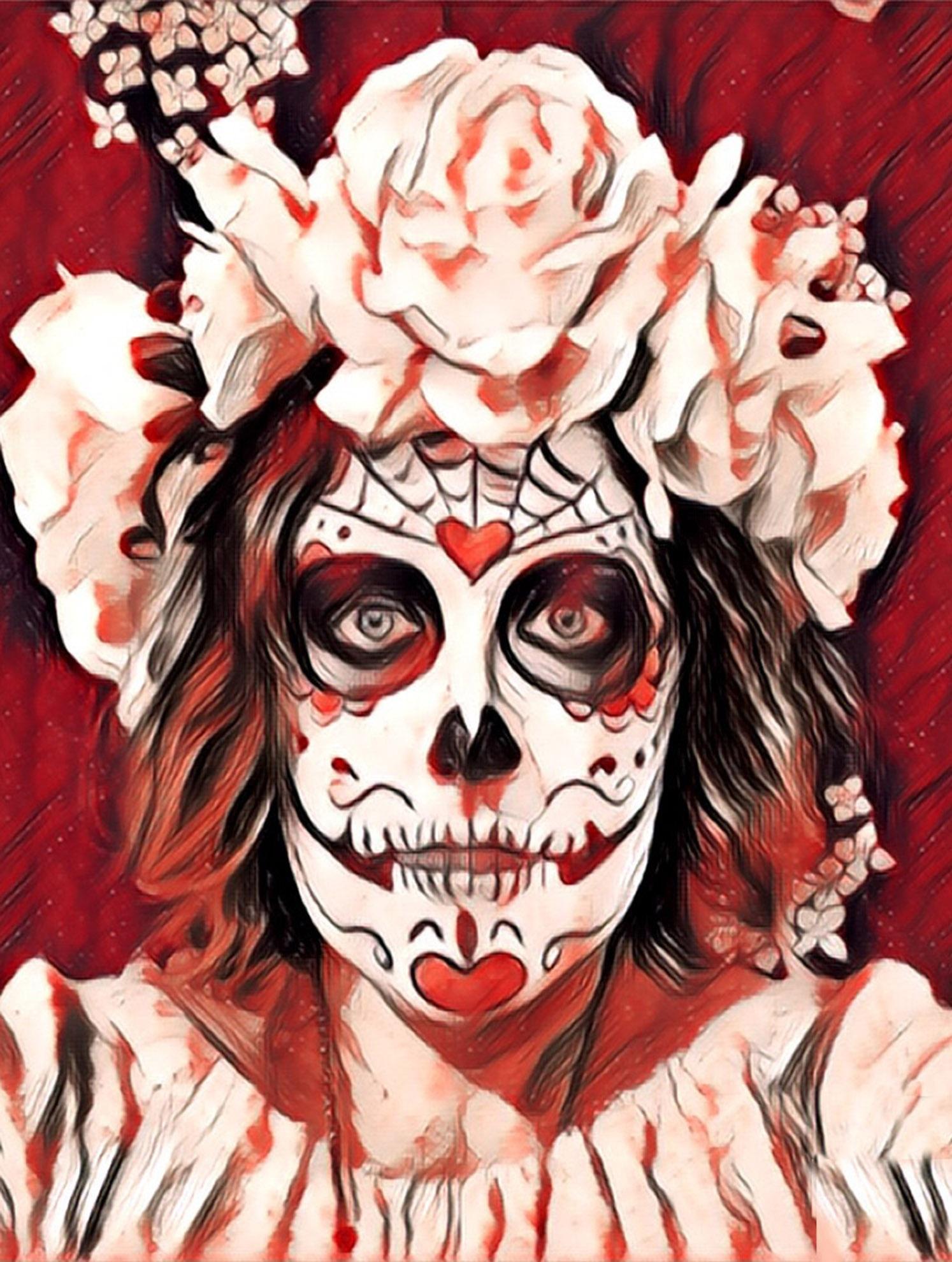 Fotoğraf ölülerin Günü Iskelet şeker Kafatası Cadılar Bayramı