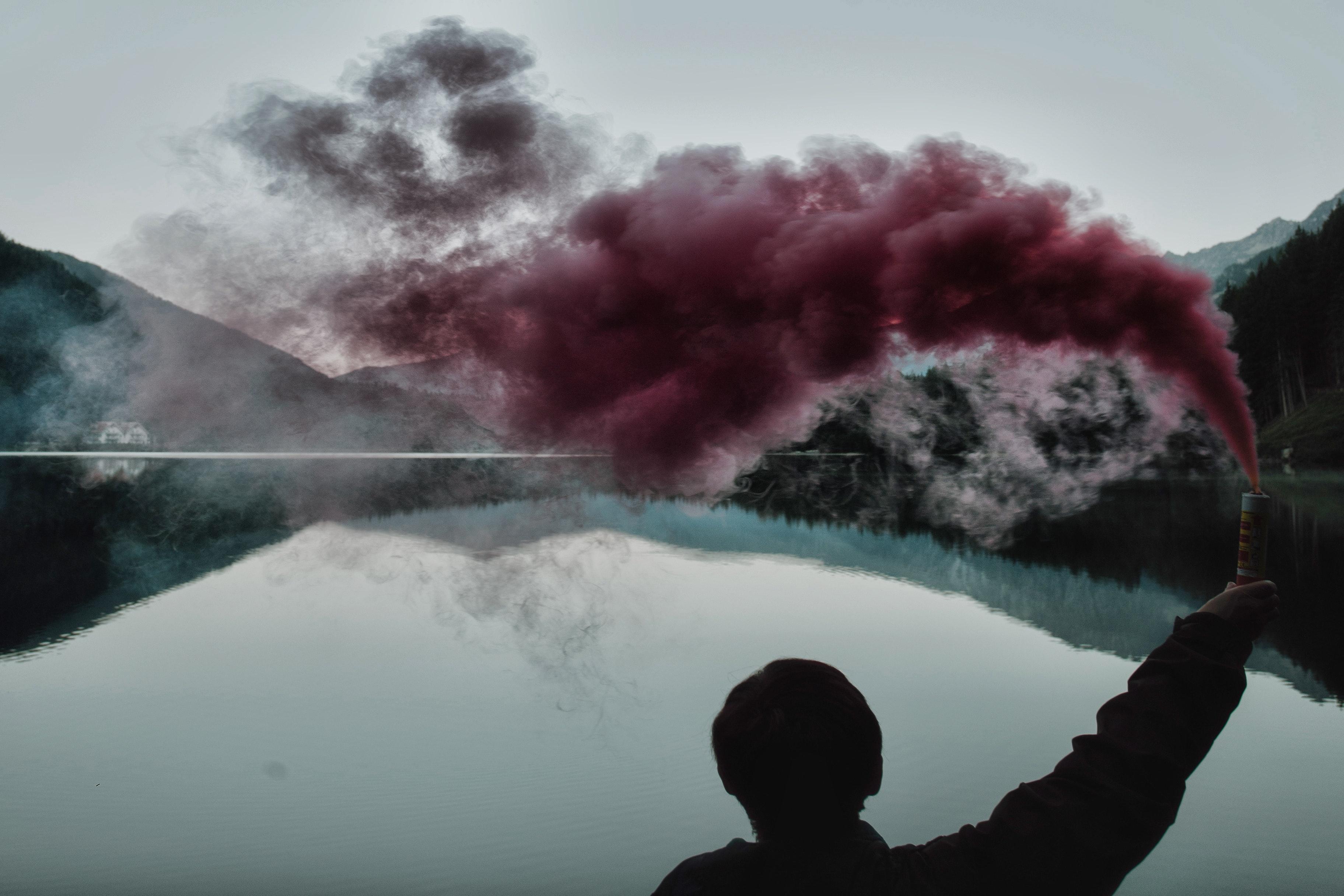 Daylight Desktop Backgrounds Lake Lakeside Landscape Mountain Reflection Silhouette Smoke