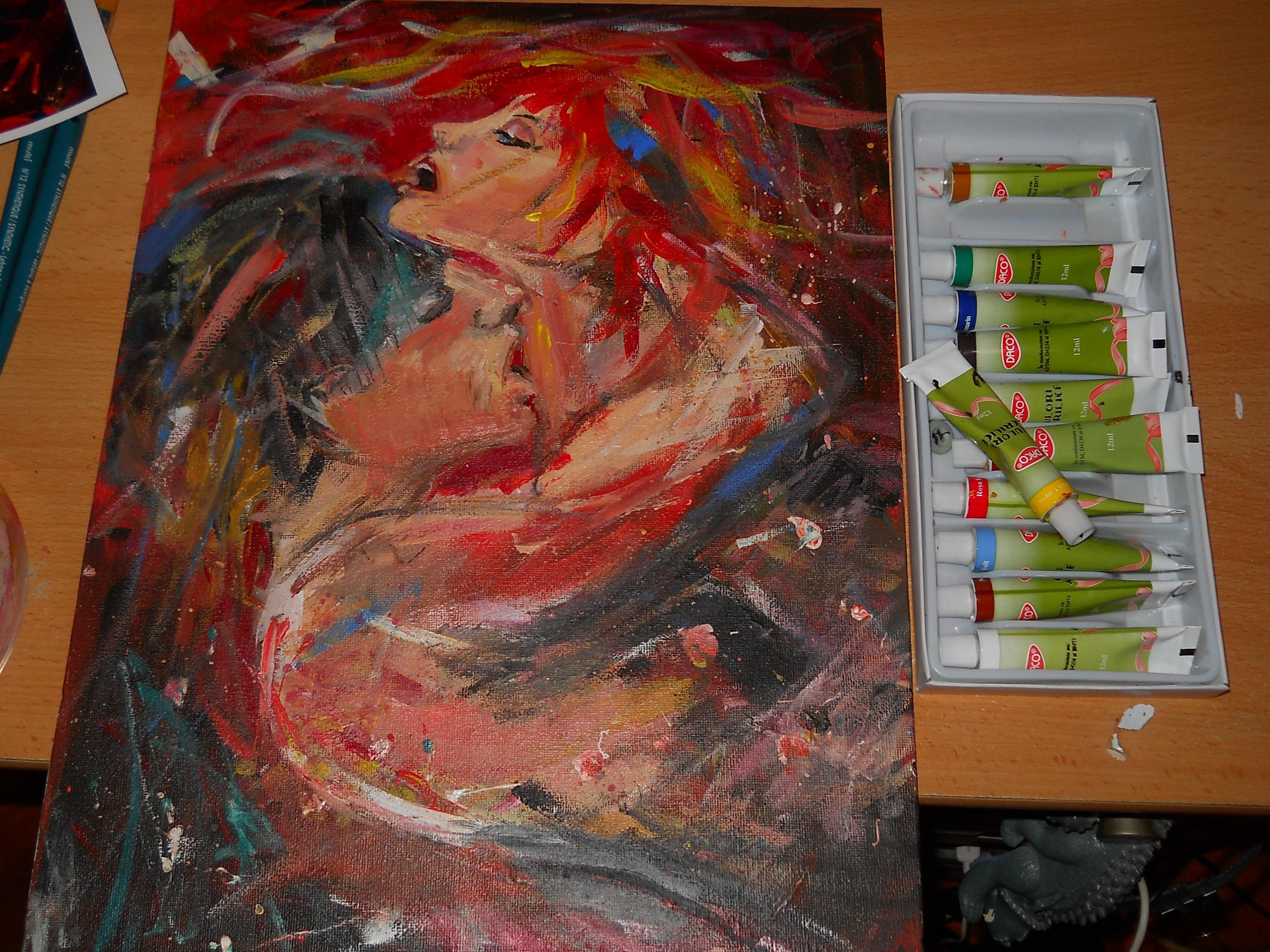 Fotoğraf Dekorasyon Renkli Boyama çizim çizgi Romanlar Tuval