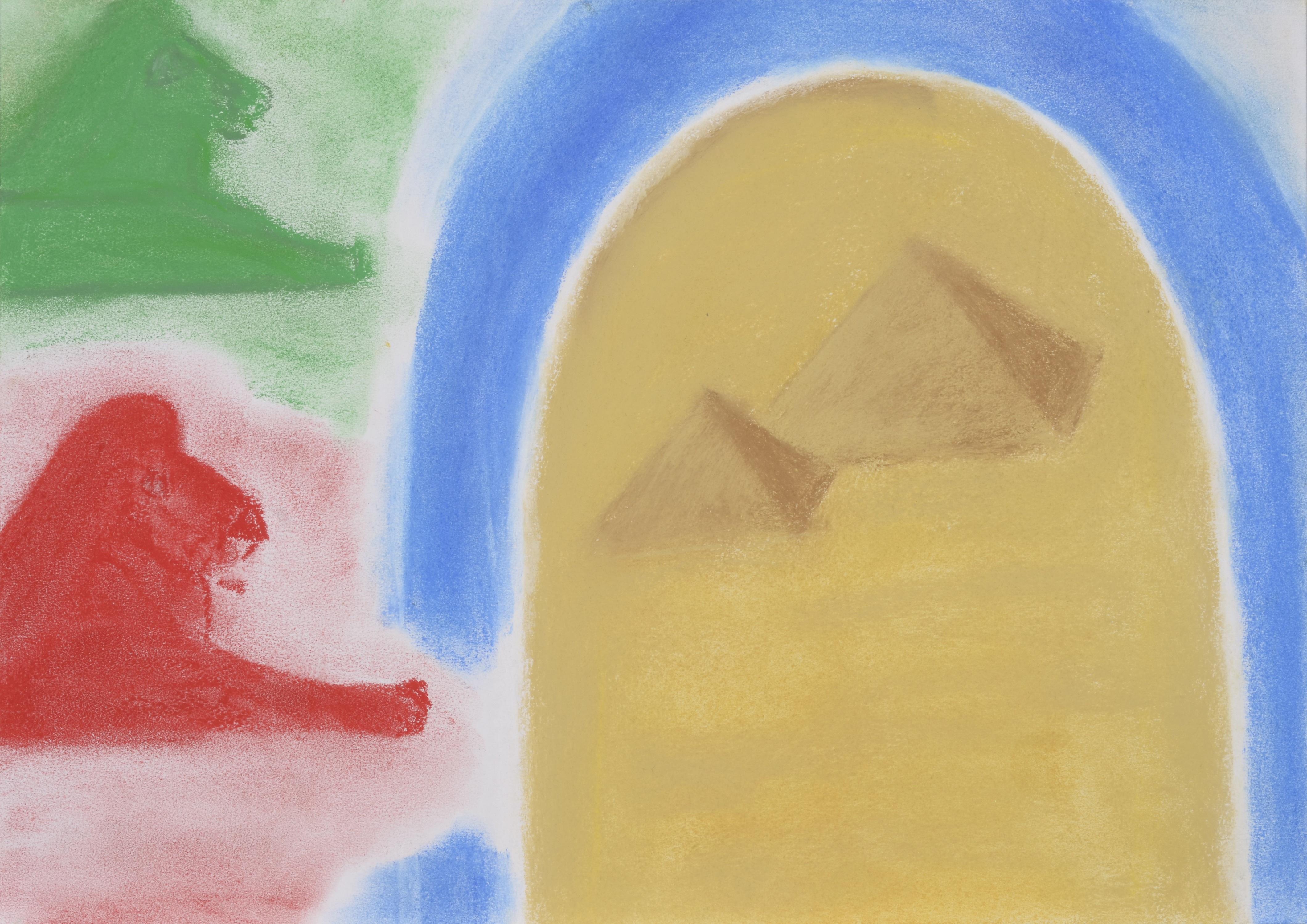Fotoğraf çöl Renk Aslan Malzeme Boyama Mısır Mezar çocuklar