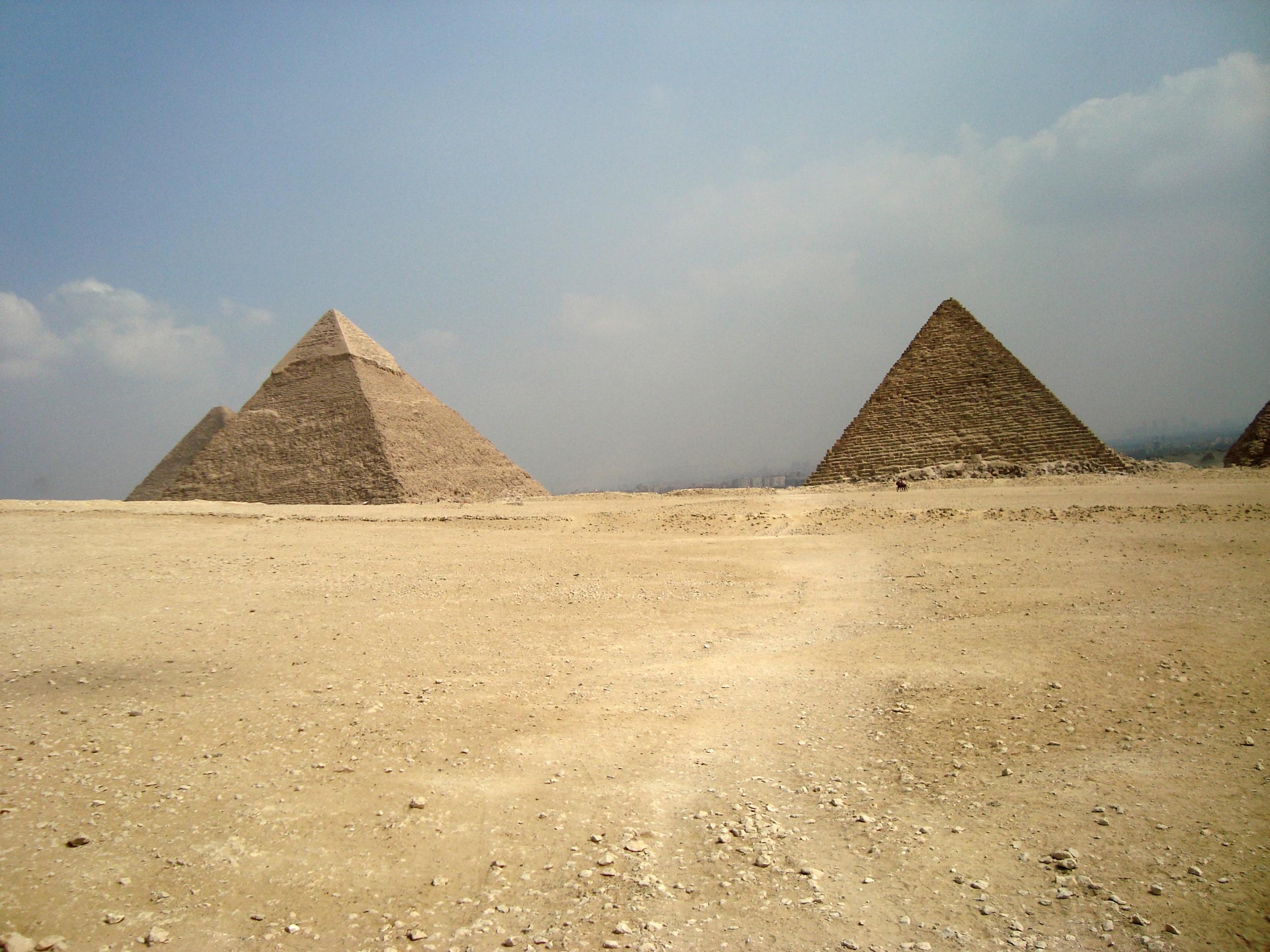 Gambar Gurun Monumen Piramida Mesir Tanah Tandus Dataran