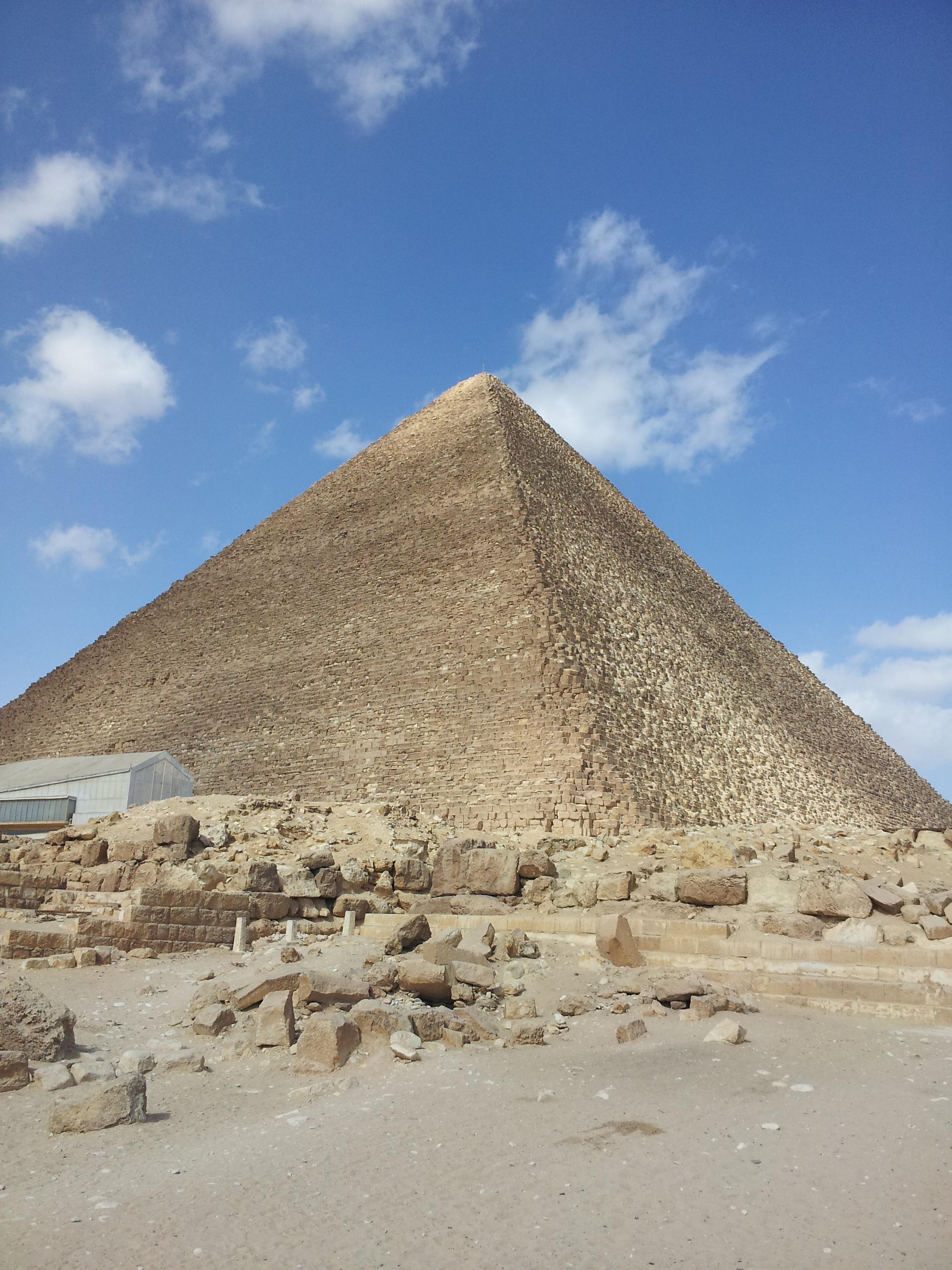 Gambar Gurun Batu Monumen Piramida Mesir Tanah Tandus Giza