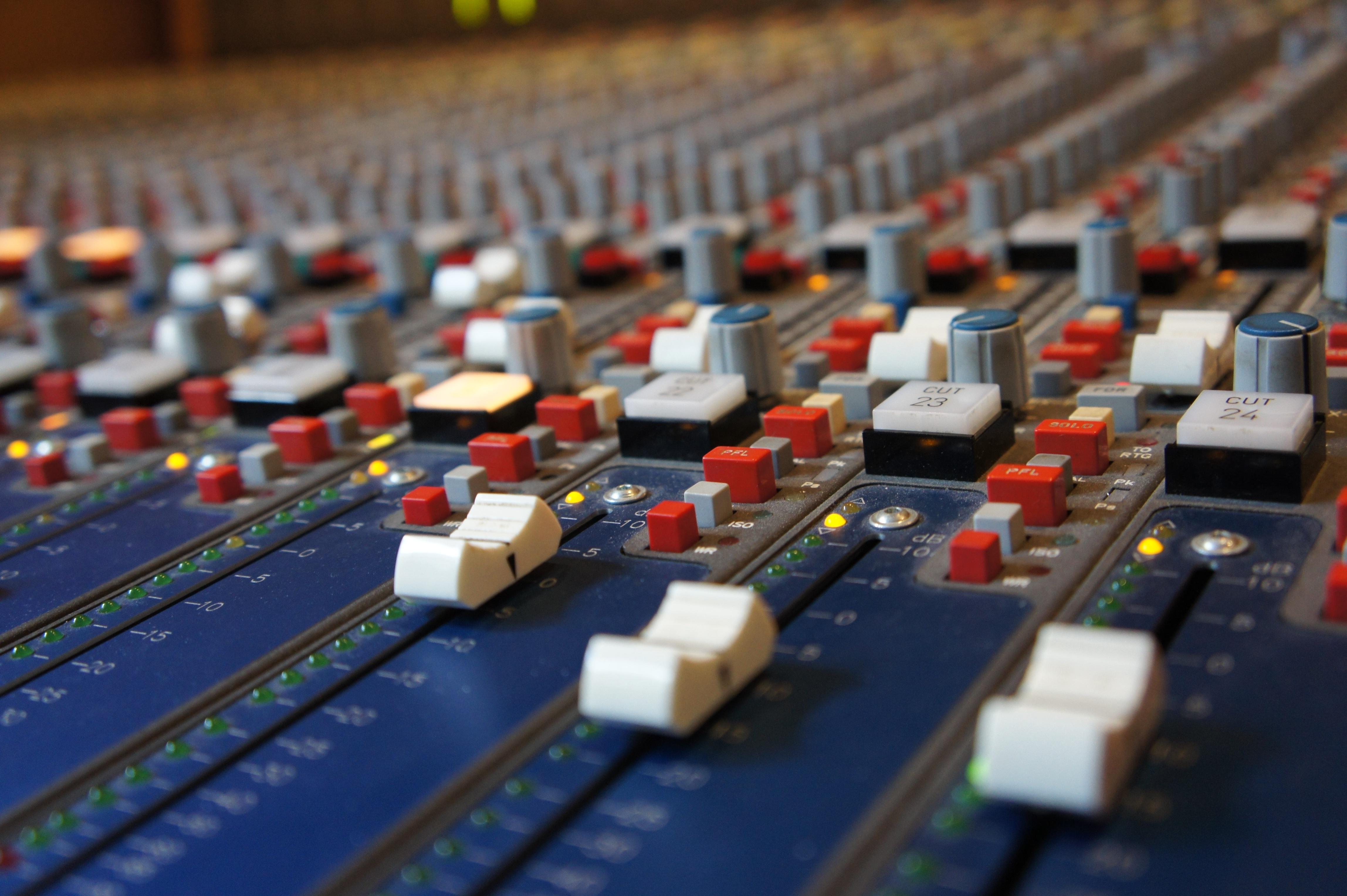 Free Images : desk, analog, recording studio, equalizer