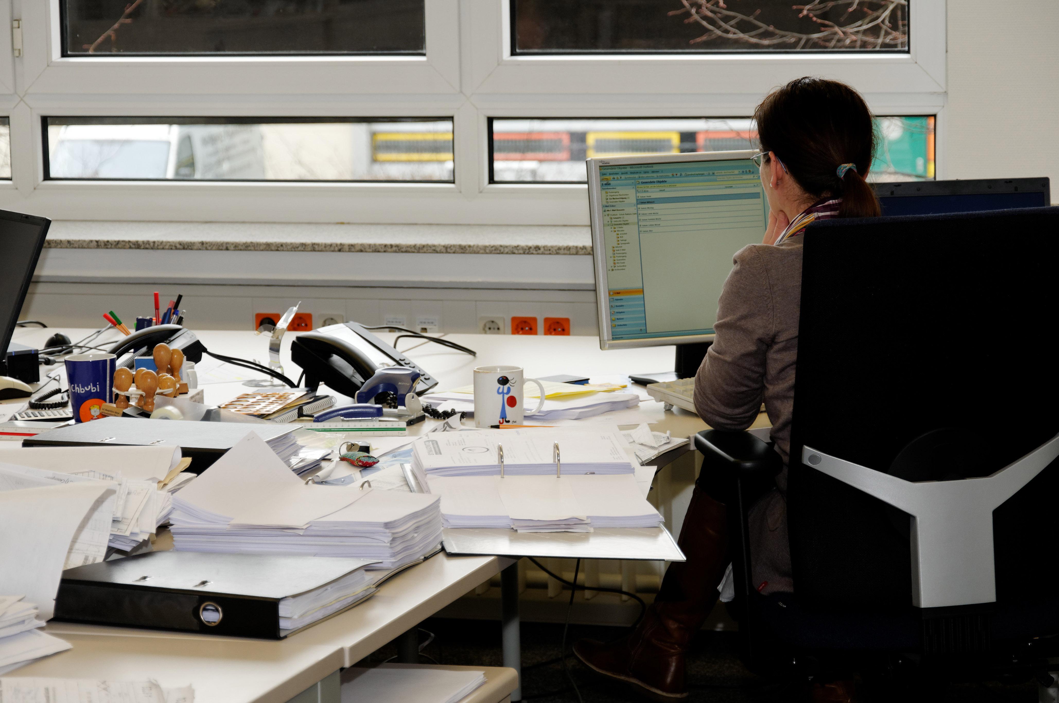 Desk Computer Work Office Monitor Design Secretary Job