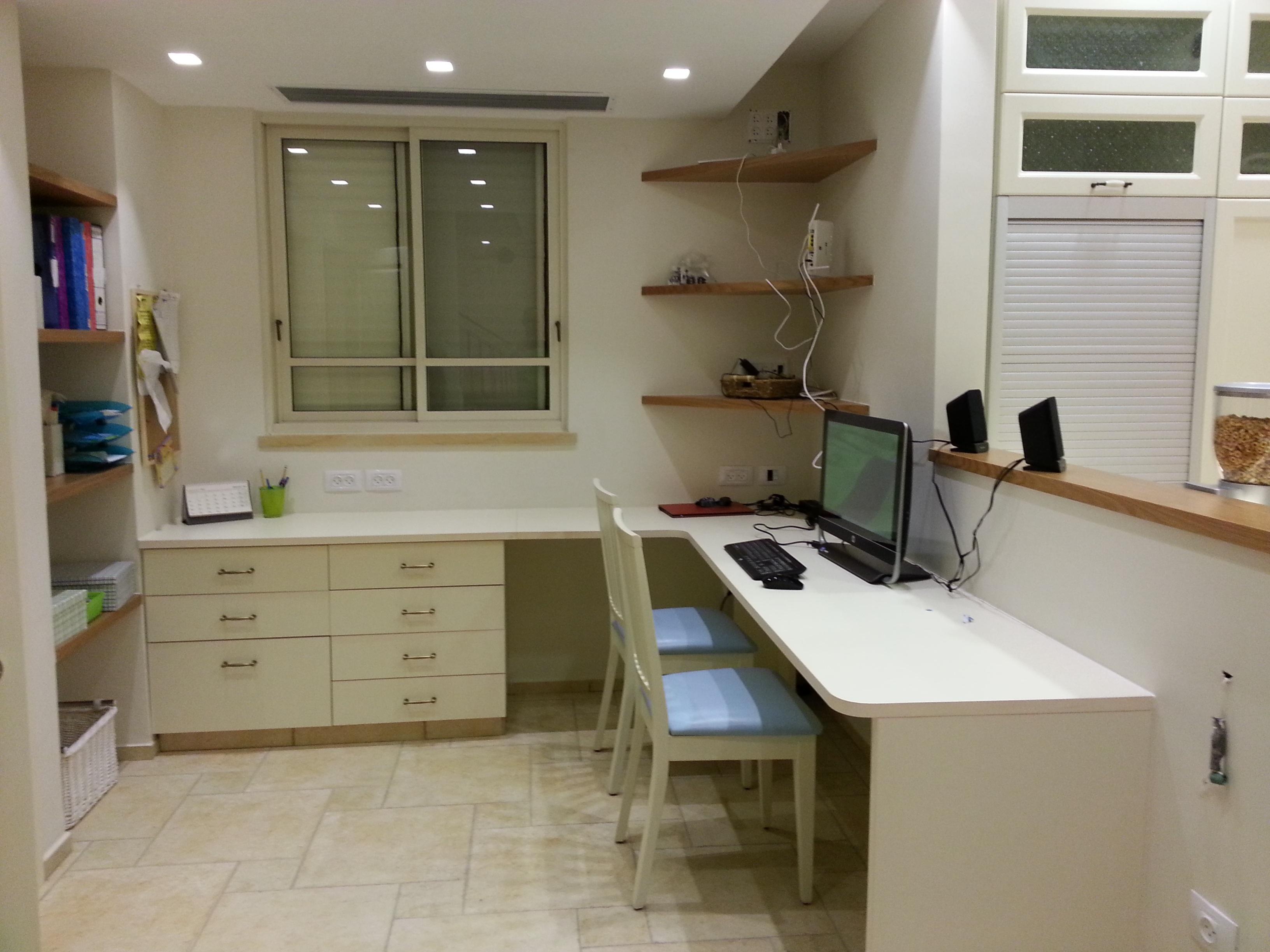 Meja Tulis Komputer Kerja Lantai Pedalaman Rumah Pondok Ruang Kantor Dapur Milik R Apartemen Desain