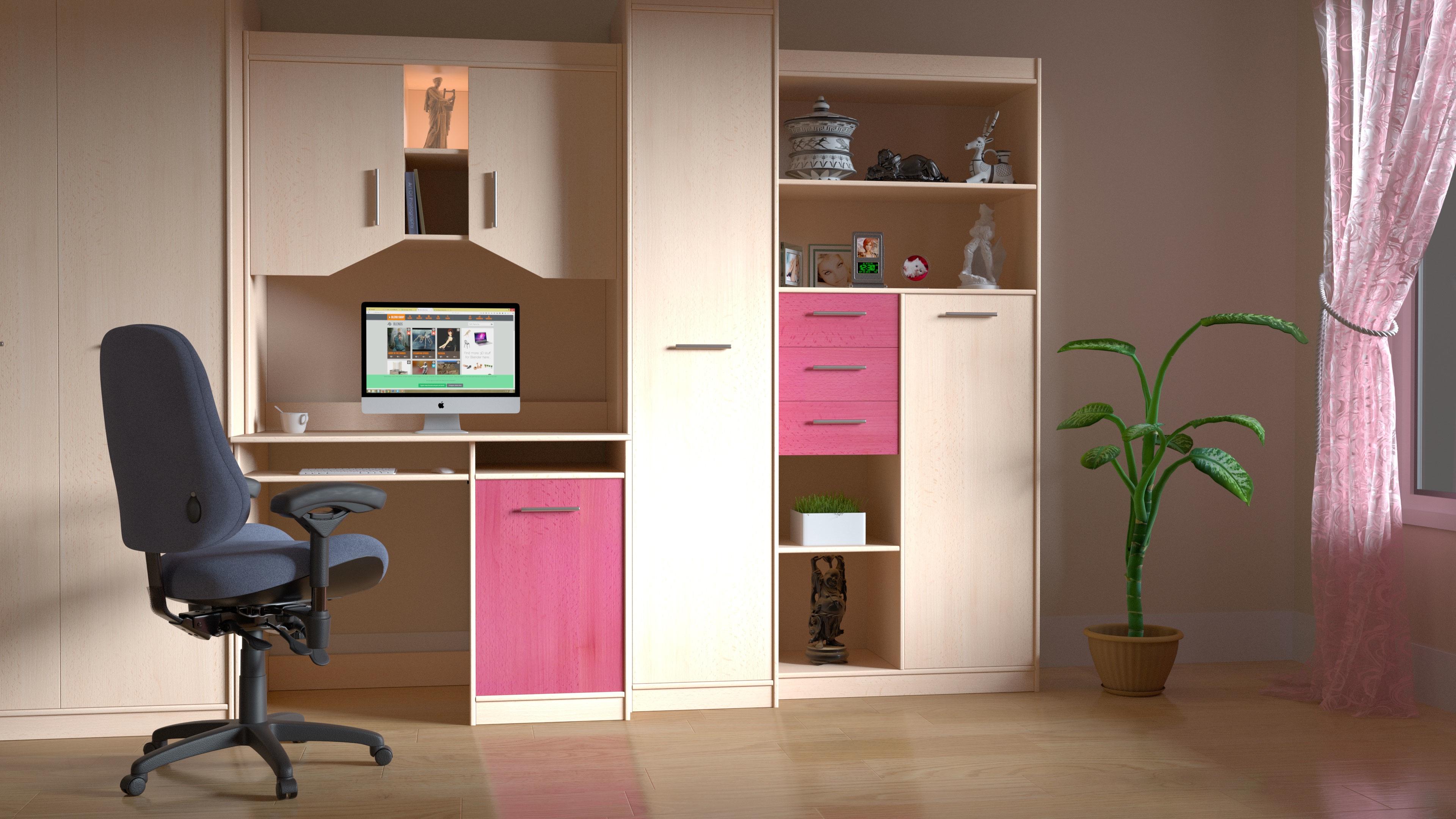 Gratuites bureau maison mur Bureau salon meubles