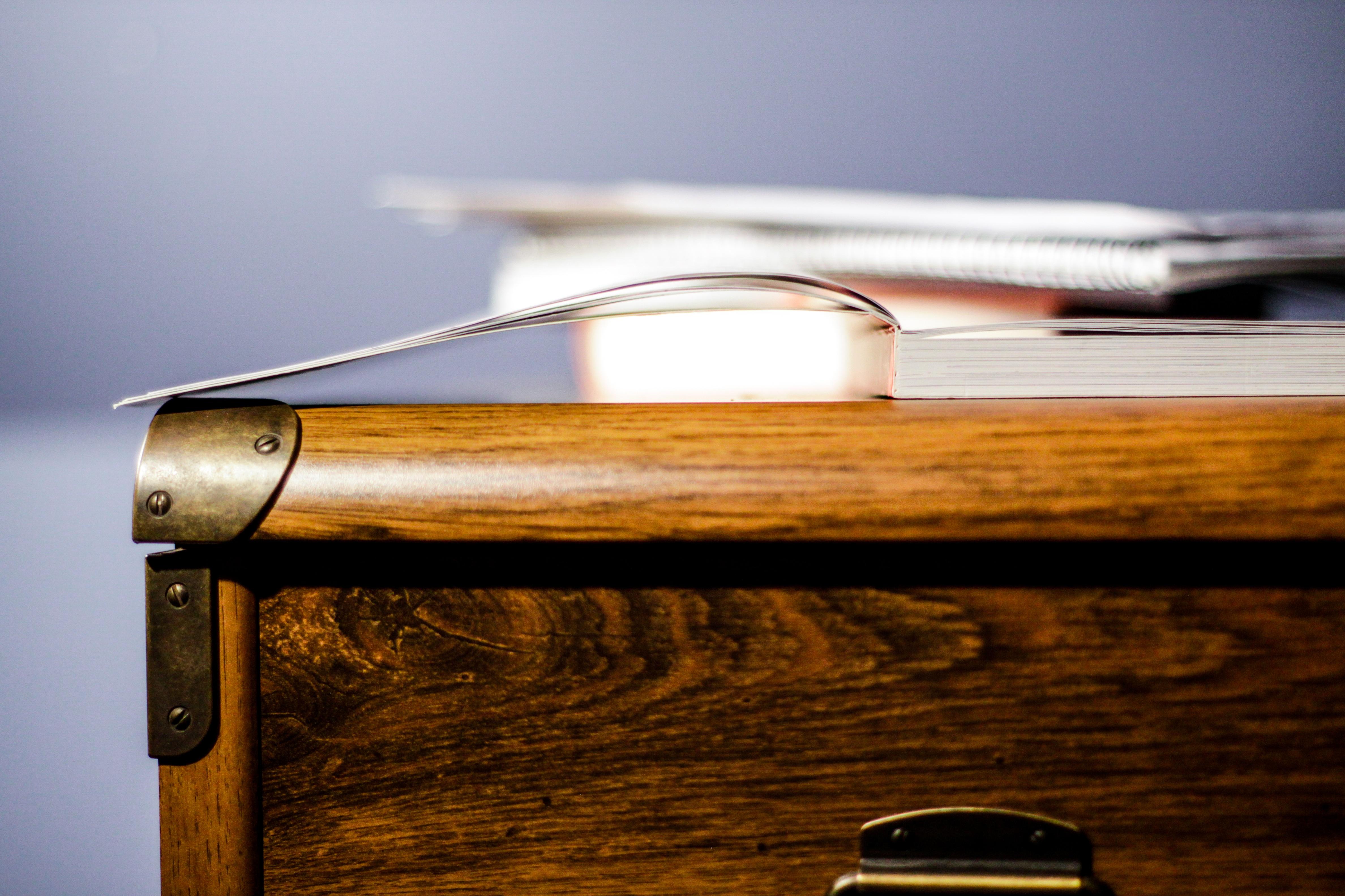 Desk Notebook Table Book Wood Guitar Brown Furniture Surface Drawer Cabinet  Glasses Wooden String Instrument