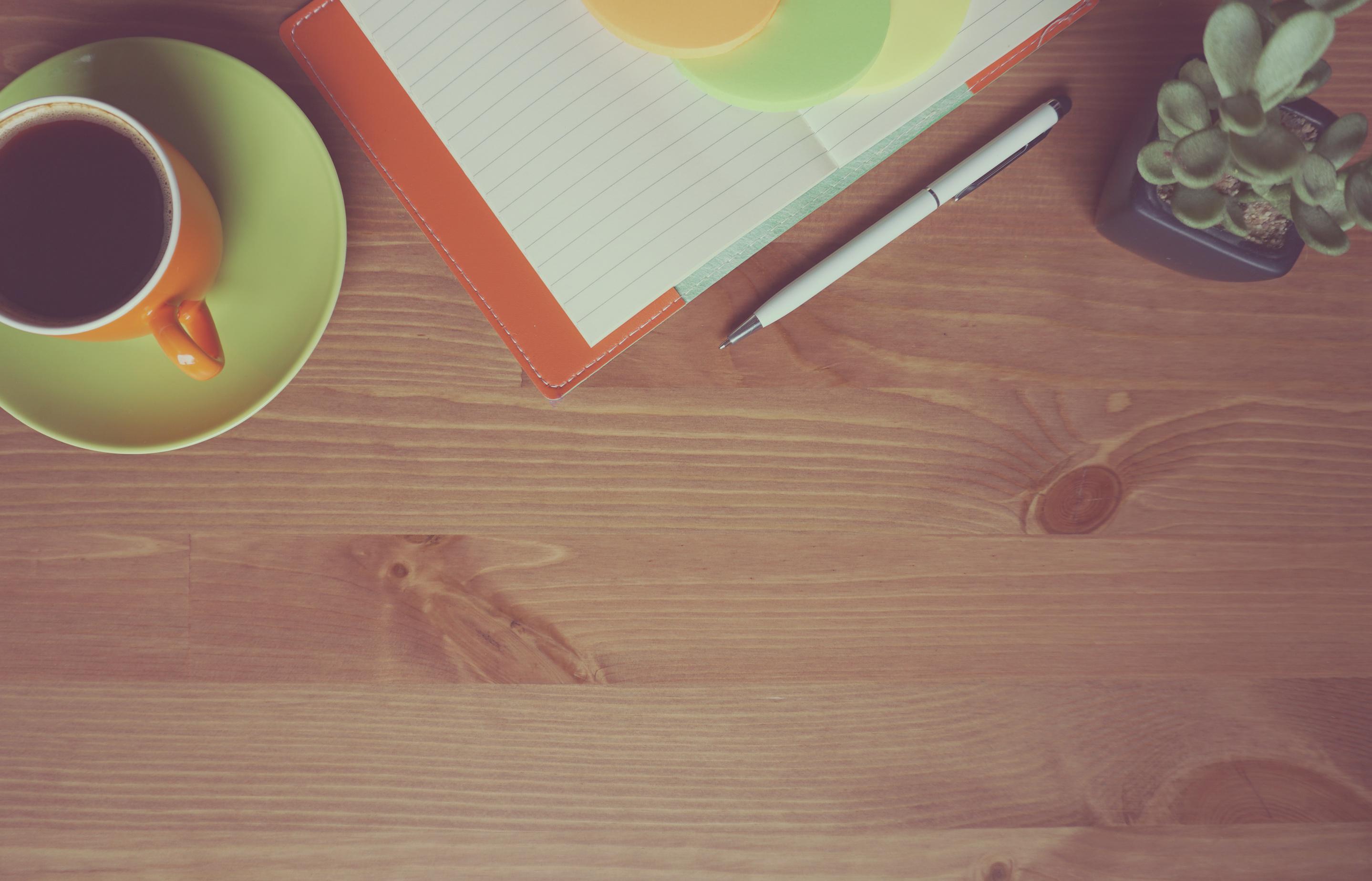 Finest Free Images : desk, notebook, work, table, wood, leaf, floor, pen  GG05