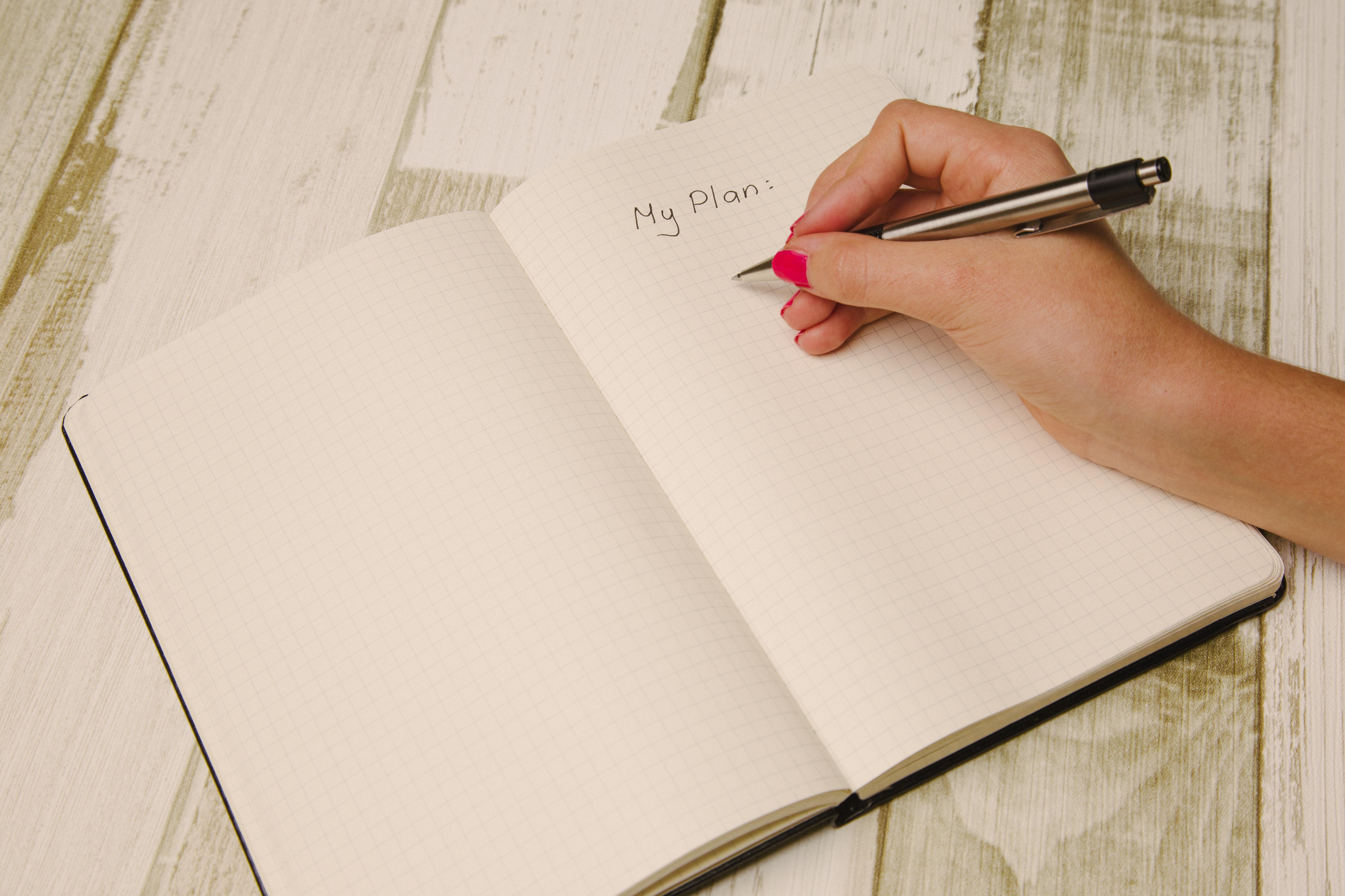 Desk Notebook Writing Hand Pen Organized Paper Arm Planner Write Brand Art  Sketch Drawing Design Planning  Design Paper For Writing