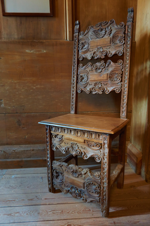 Bureau Table Bois Antique Chaise Vieux Artisanat Meubles Chambre Tiroir Art Sculpture Moyen Ge Commode Armoires