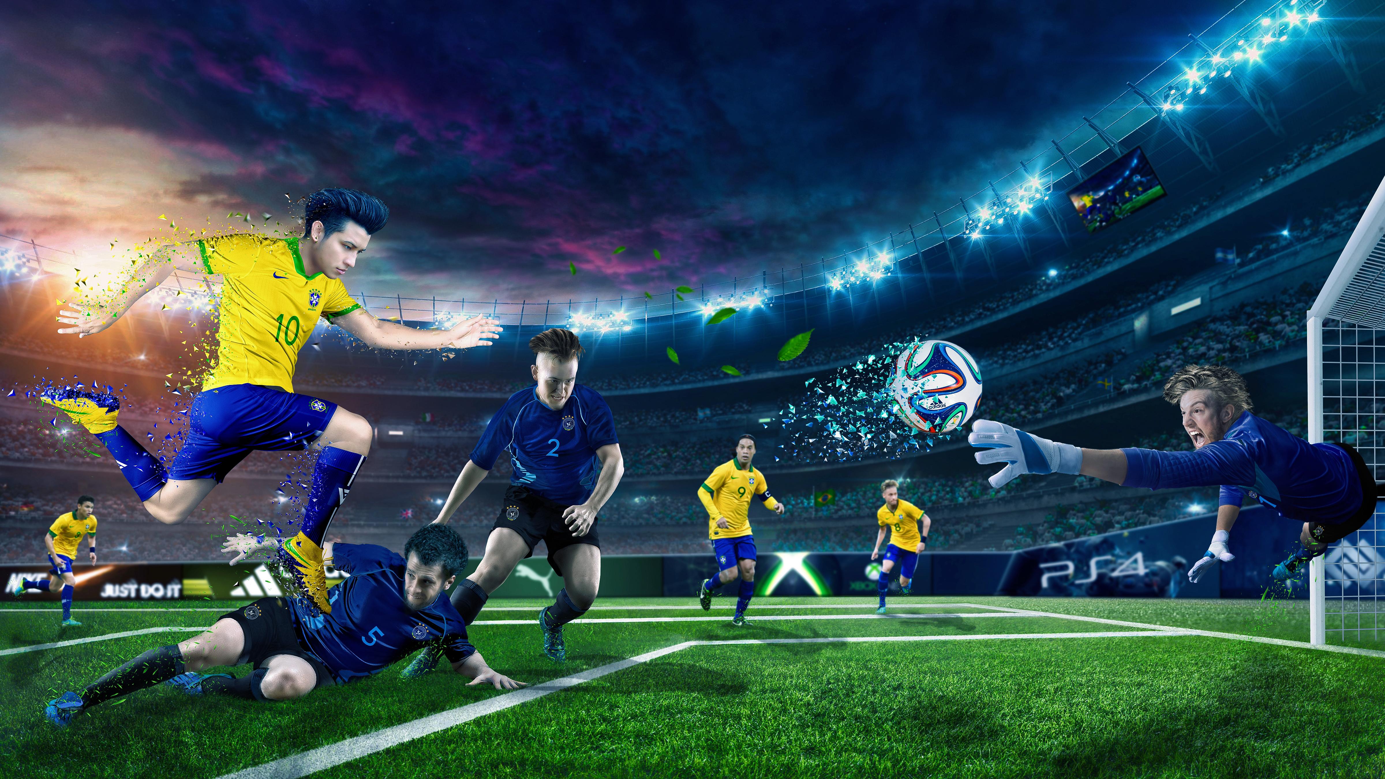Обои soccer, Ball, Sky kick. Спорт foto 13