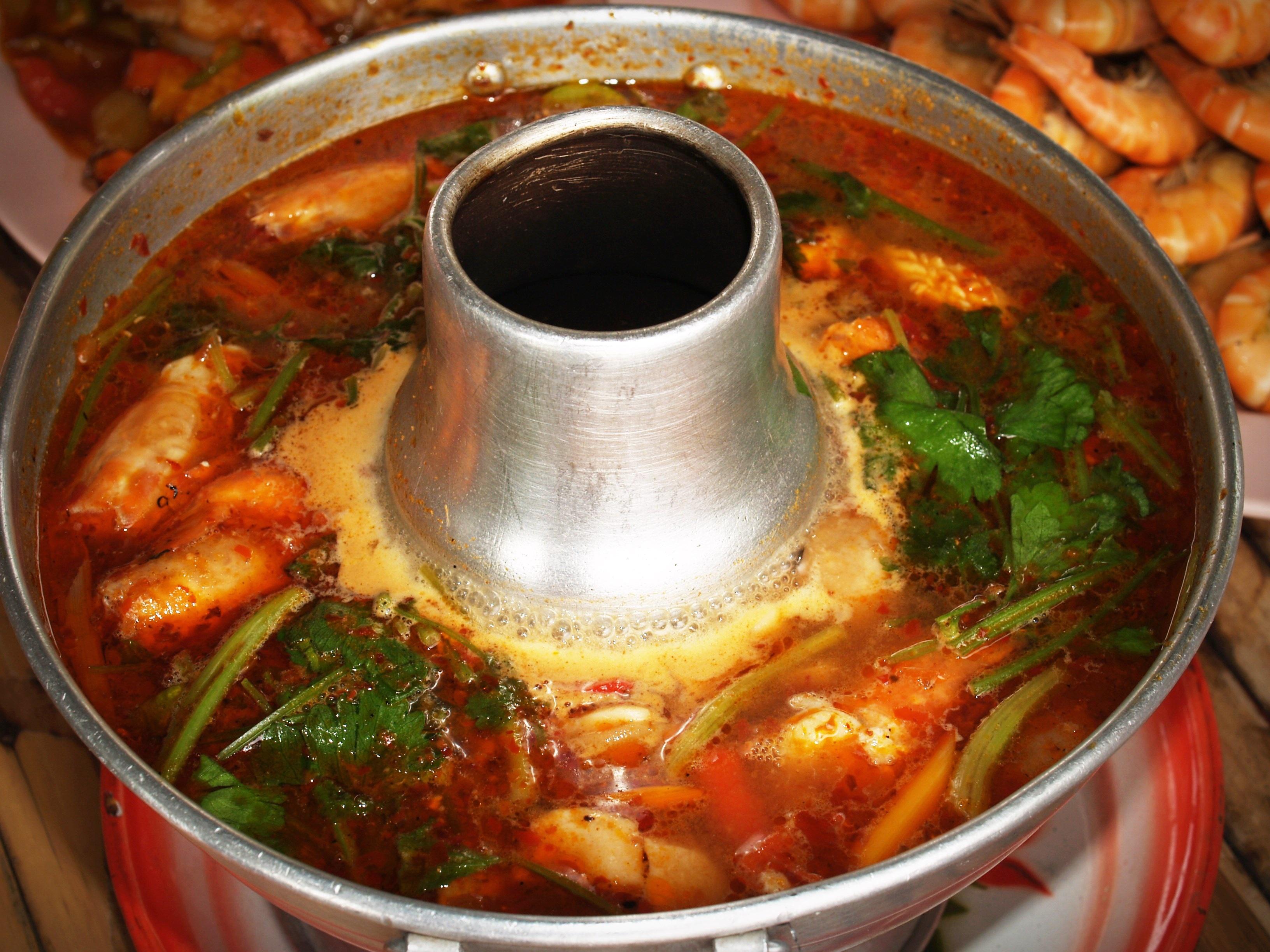 Gambar Hidangan Menghasilkan Sup Anggrek Makanan Asia