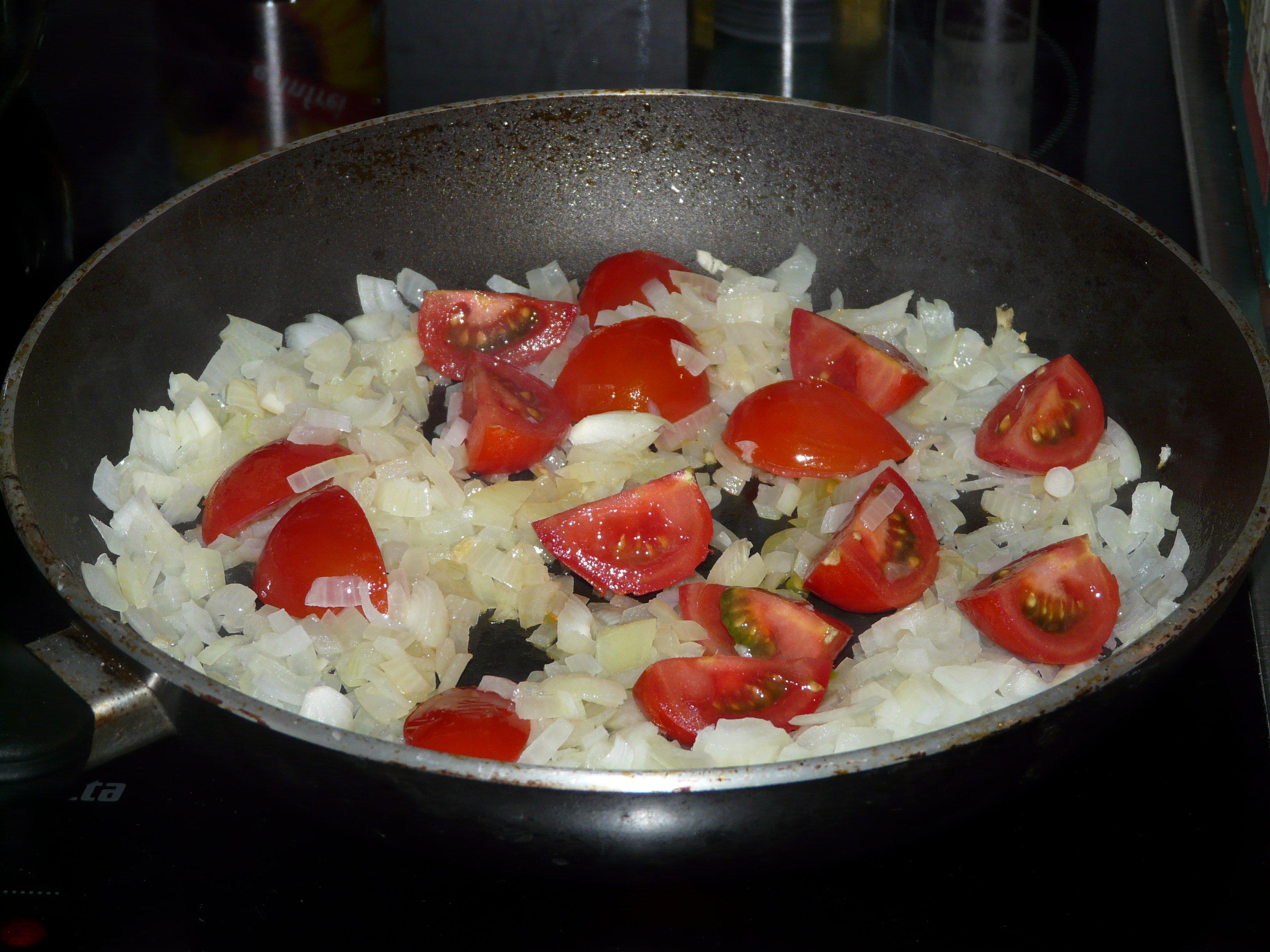 Gemuse anbraten salat