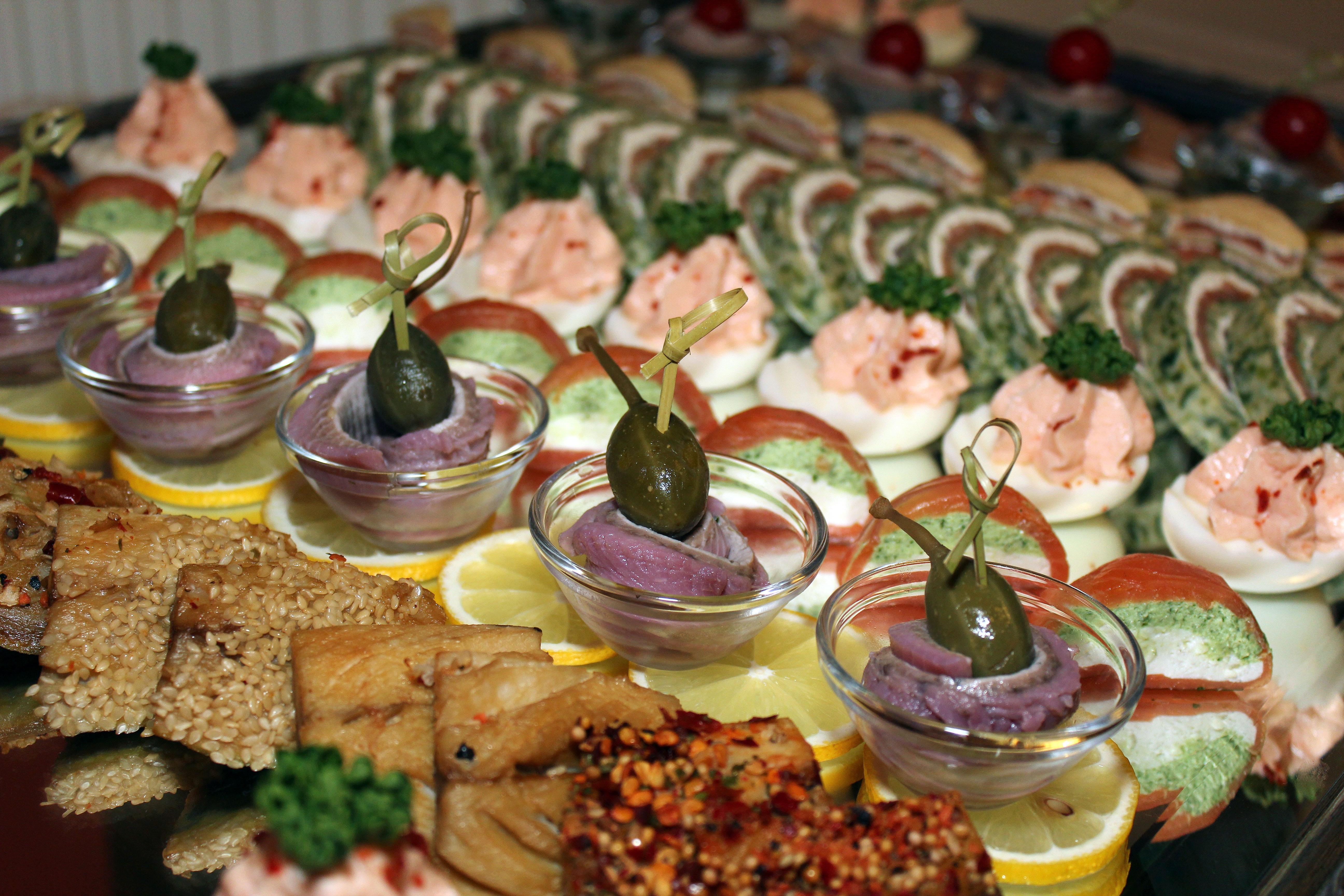 Рецепты закусок на банкет с фото