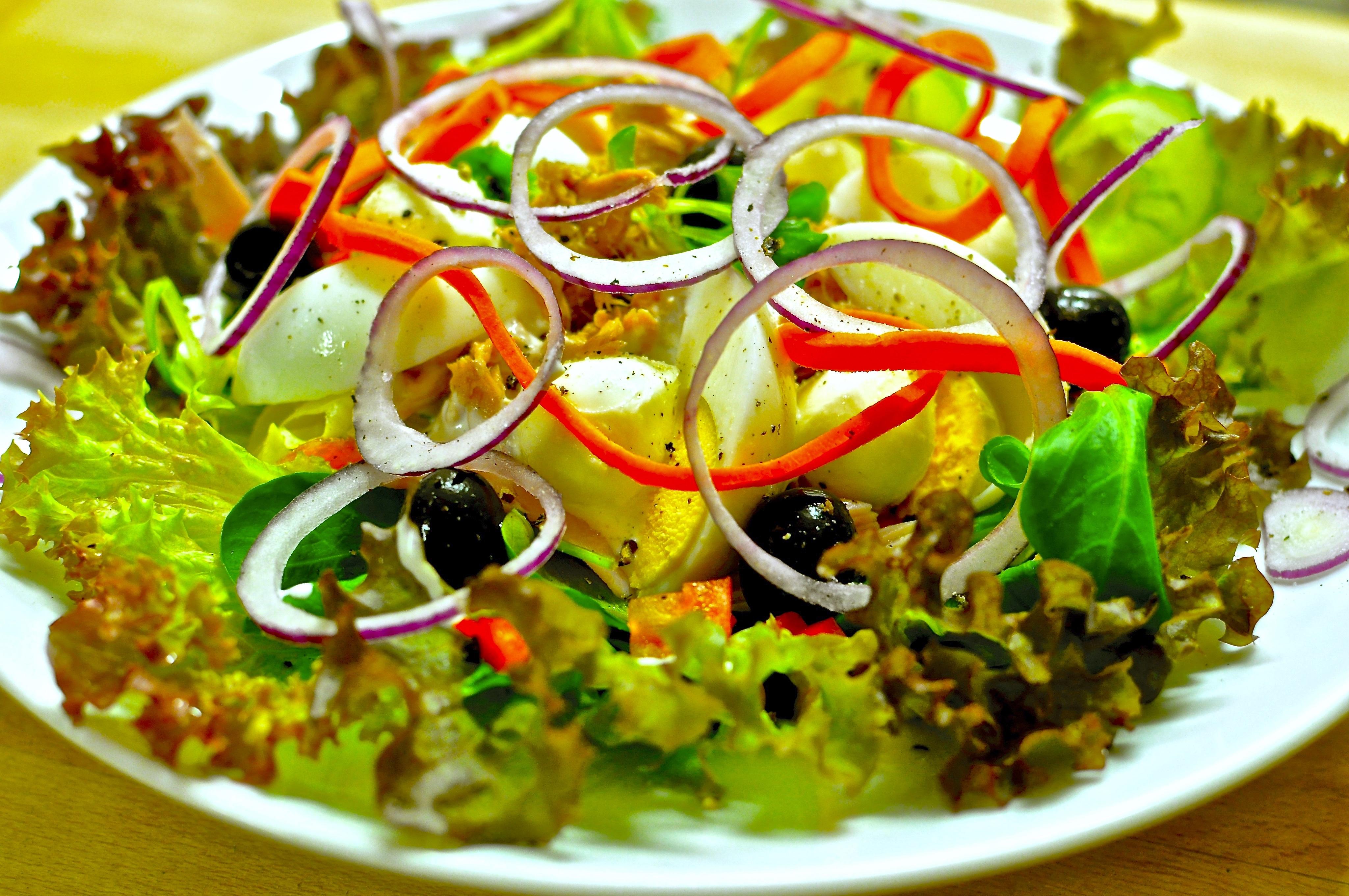 Салат без майонеза рецепт пошагово