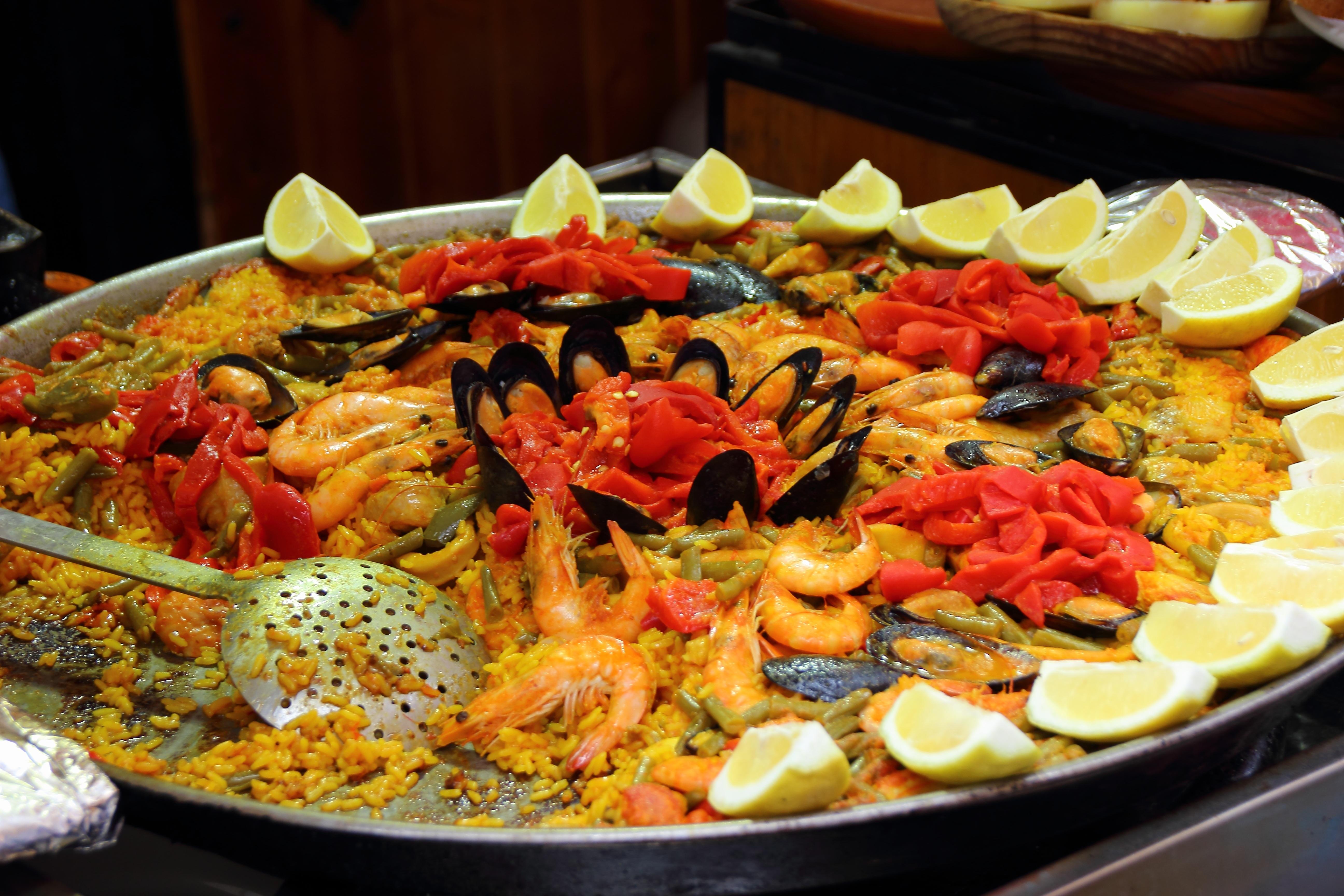 Fotos gratis : Mariscos, pescado, comer, arroz, buffet, camarón ...